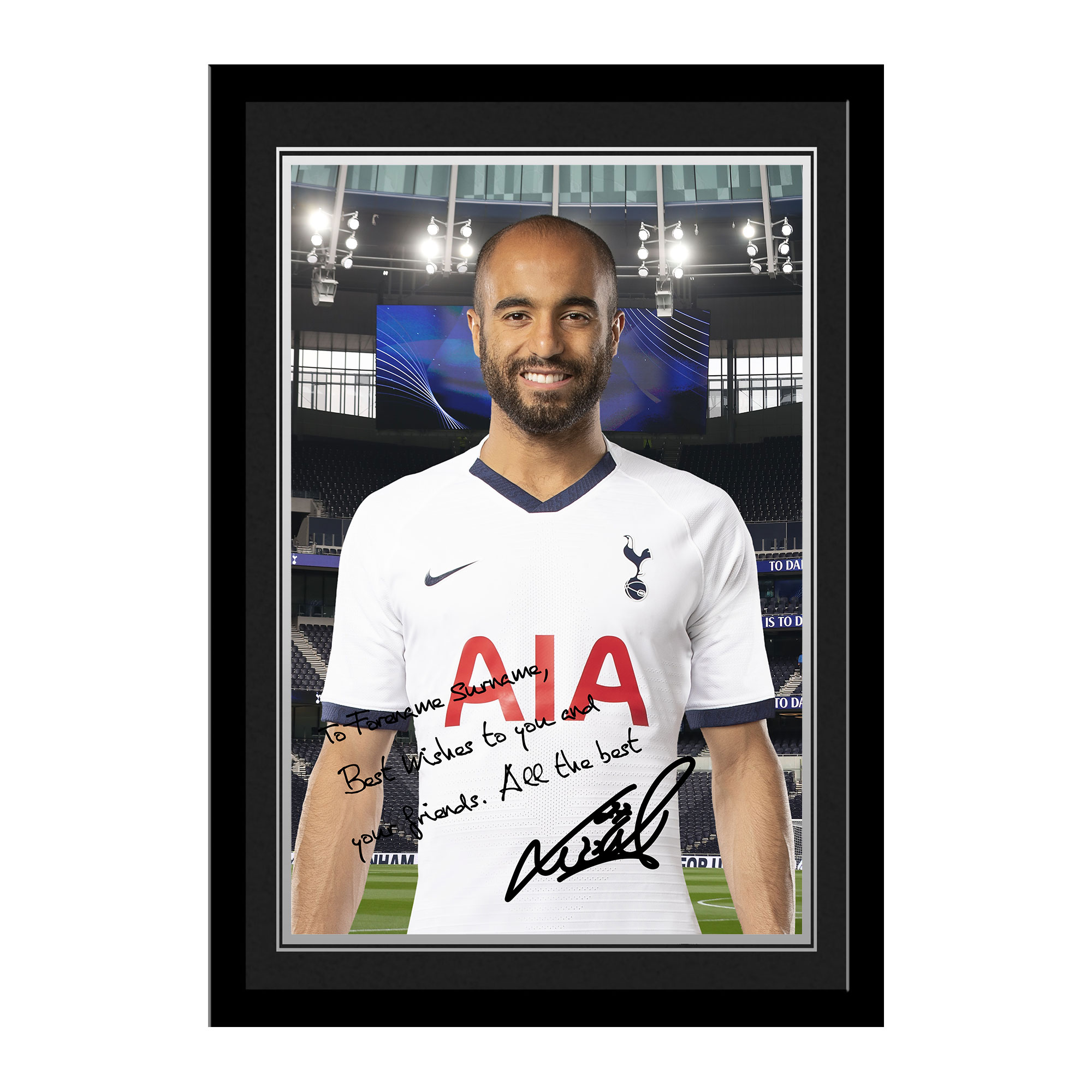 Tottenham Hotspur Moura Autograph Photo Framed