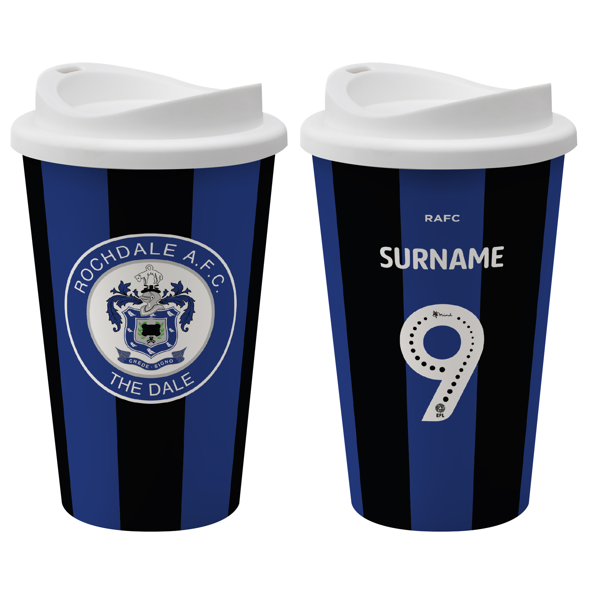 Rochdale AFC Back of Shirt Reusable Cup