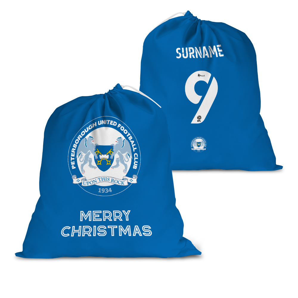 Peterborough United FC Back of Shirt Santa Sack