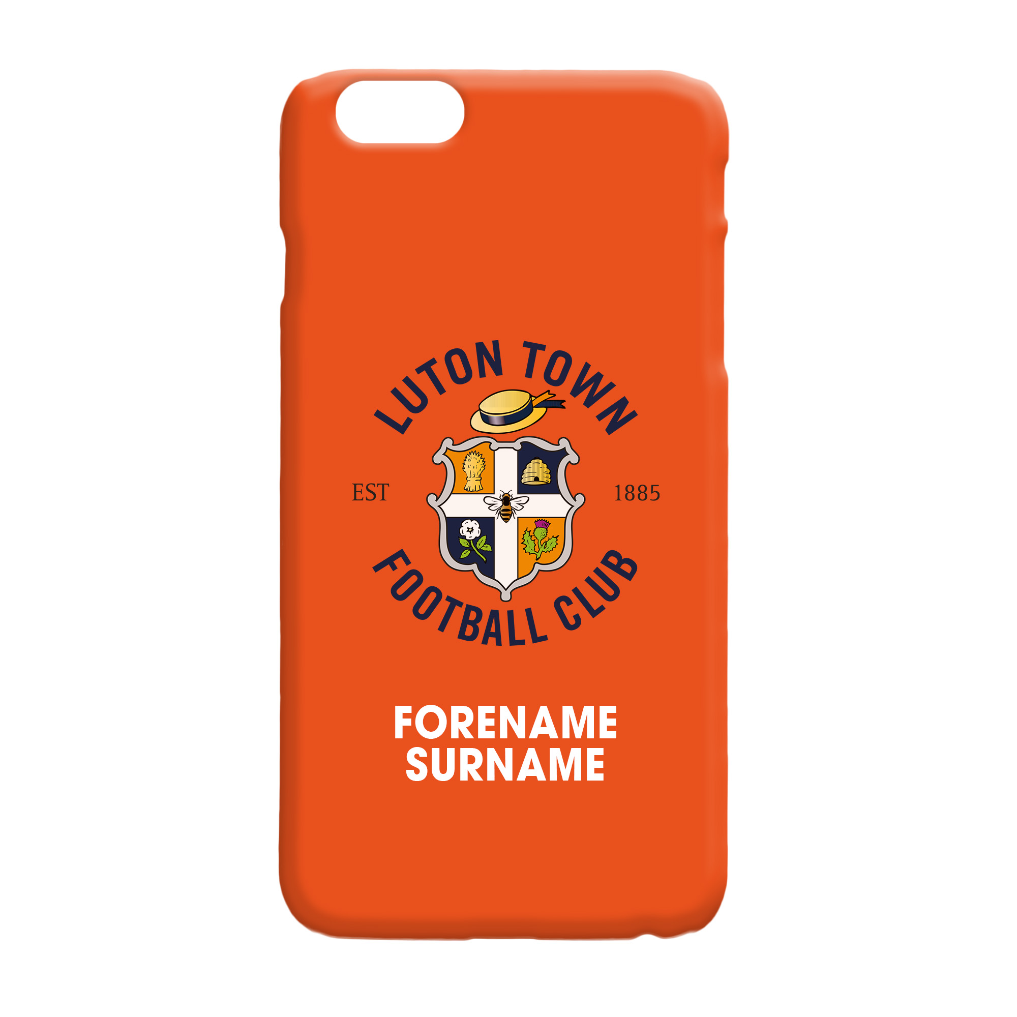 Luton Town FC Bold Crest Hard Back Phone Case