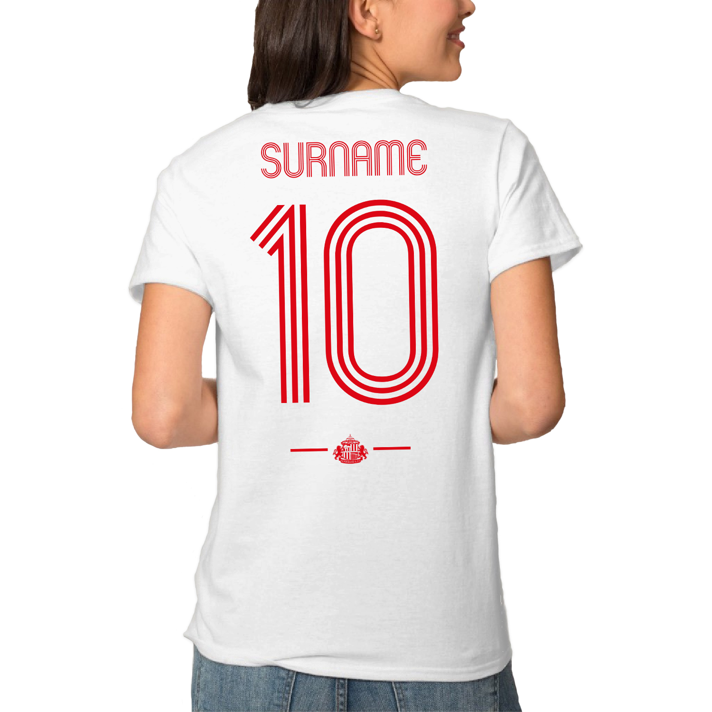 Sunderland AFC Retro Shirt Ladies T-Shirt