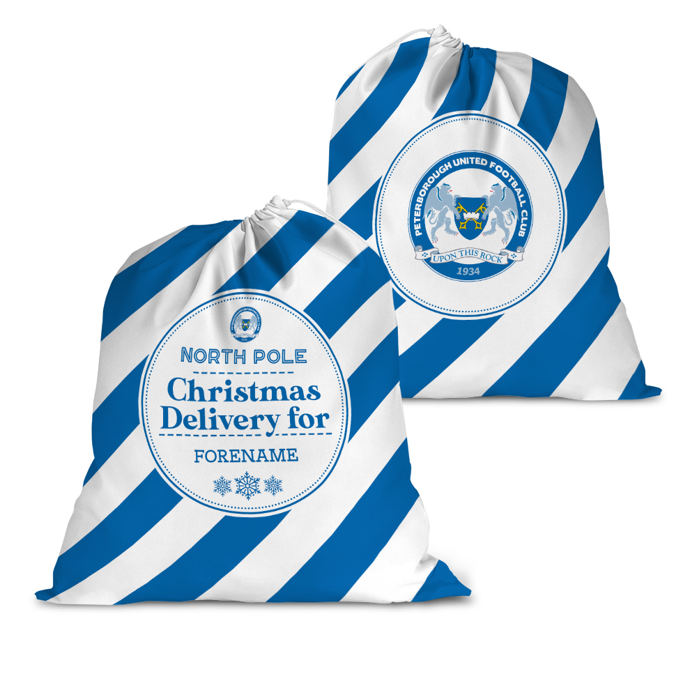 Peterborough United FC Christmas Delivery Santa Sack