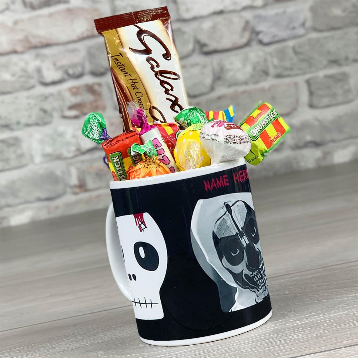 Skulls Photo Upload - Personalised Mug With Sweets