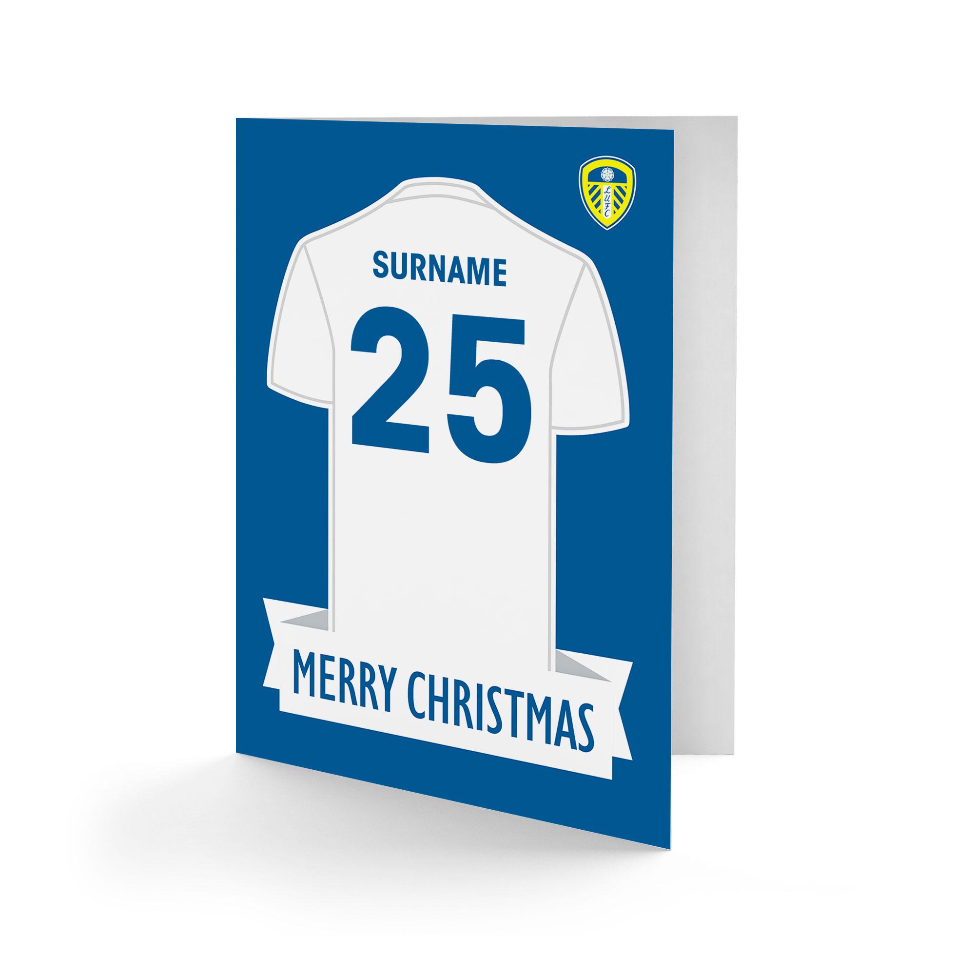 Leeds United FC Shirt Christmas Card