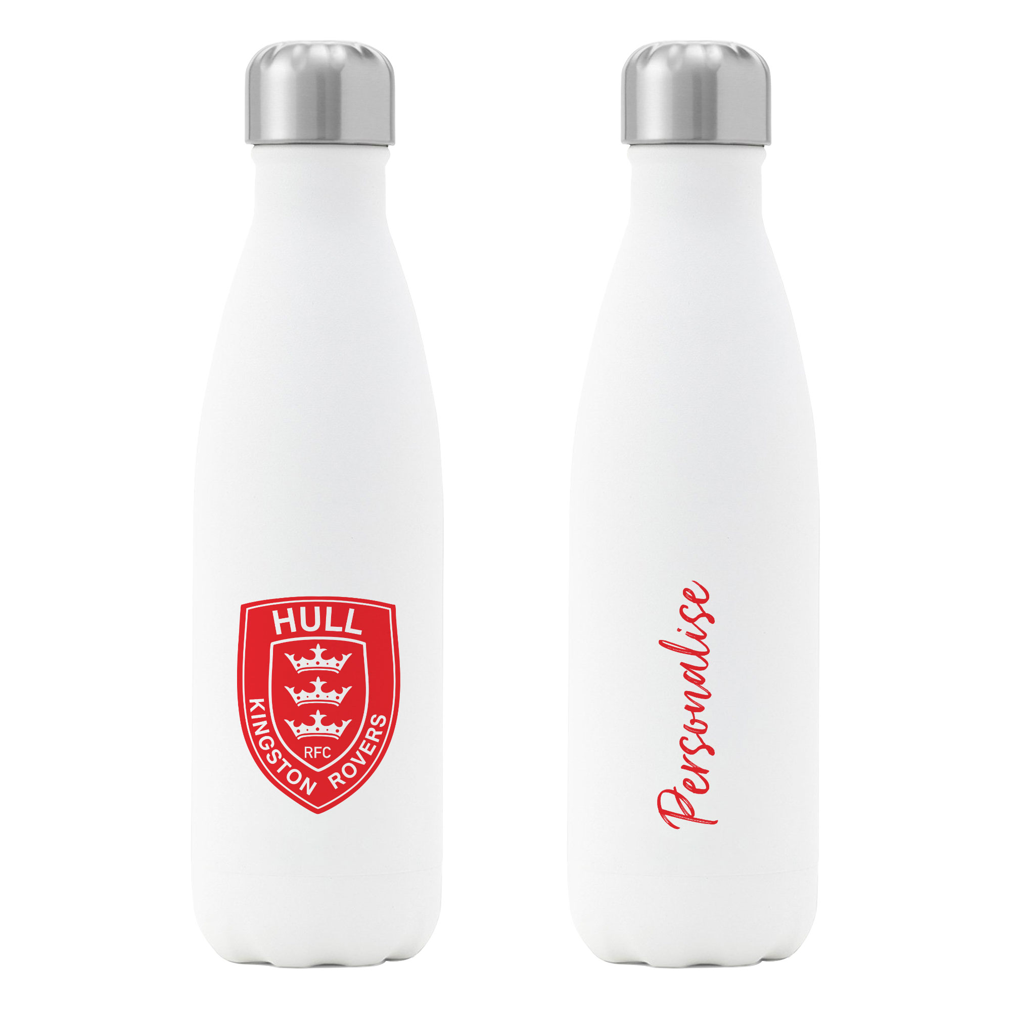 Hull Kingston Rovers Crest Insulated Water Bottle - White