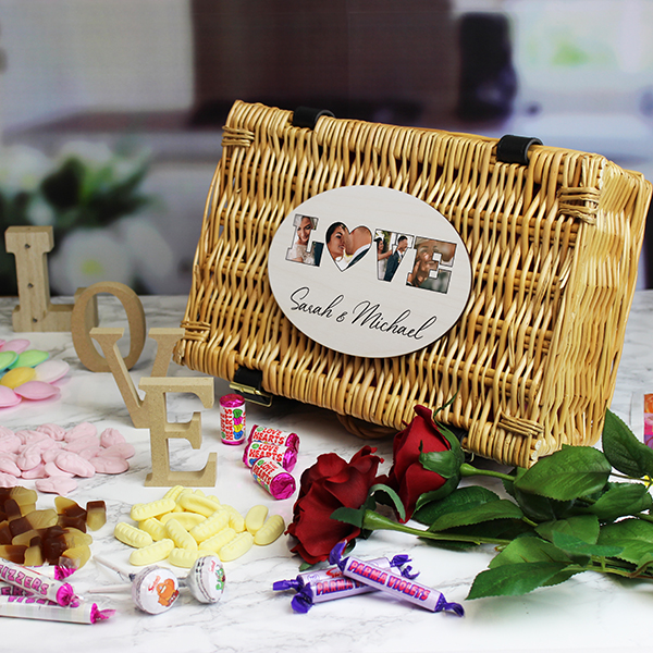 'LOVE' Photo Gift - Retro Sweet Hamper