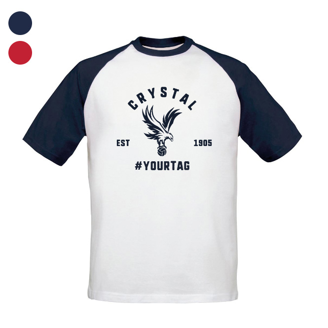 Crystal Palace FC Vintage Hashtag Baseball T-Shirt