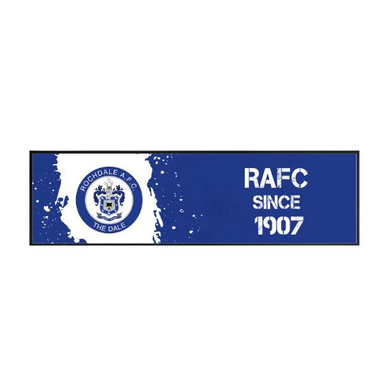 Rochdale AFC Paint Splash Large Bar Runner