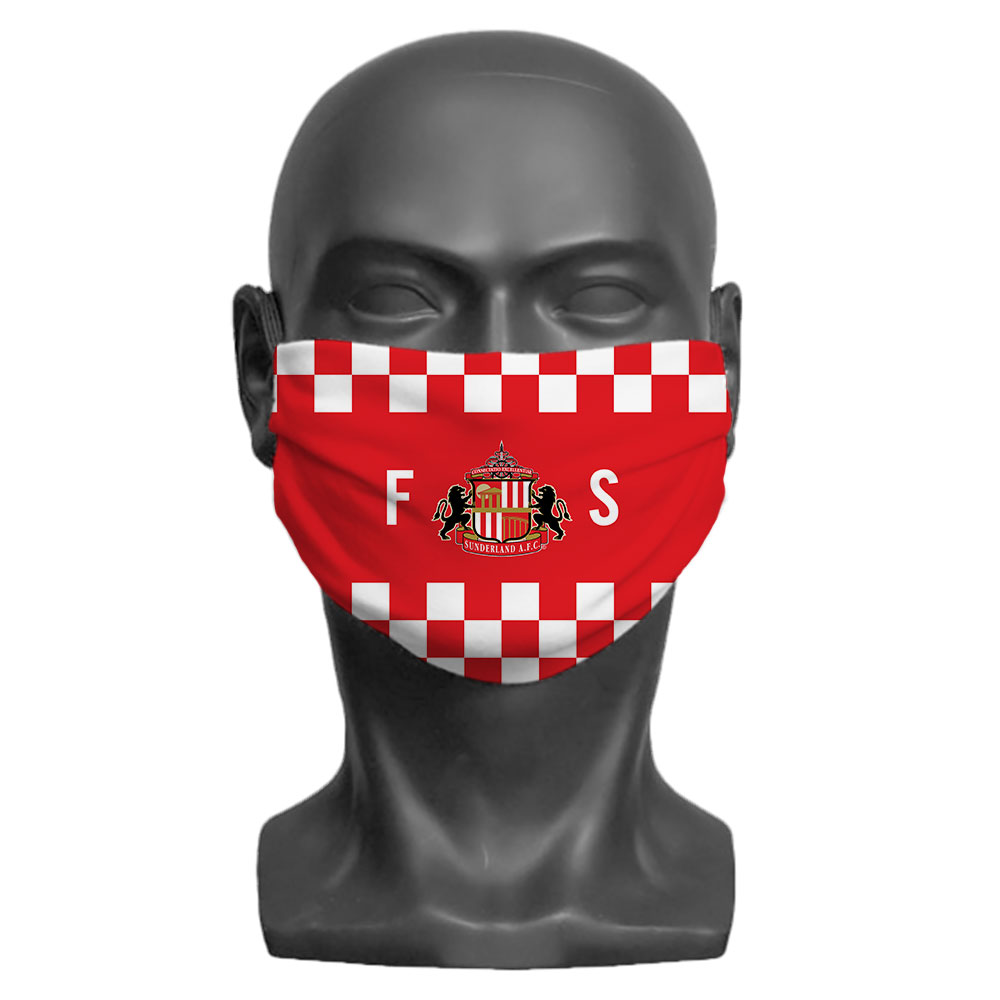 Sunderland AFC Initials Adult Face Mask (Large)