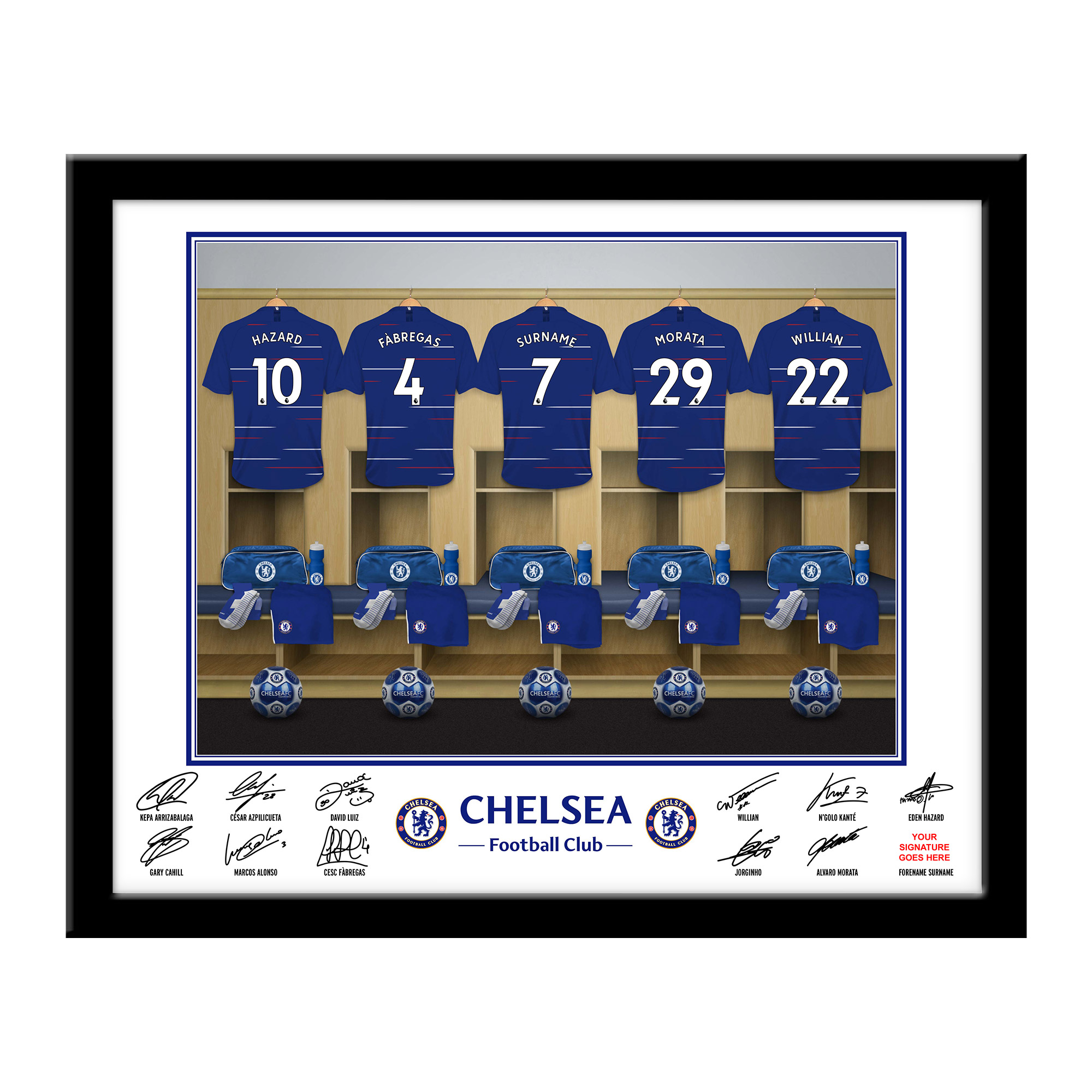 Chelsea FC Dressing Room Framed Print
