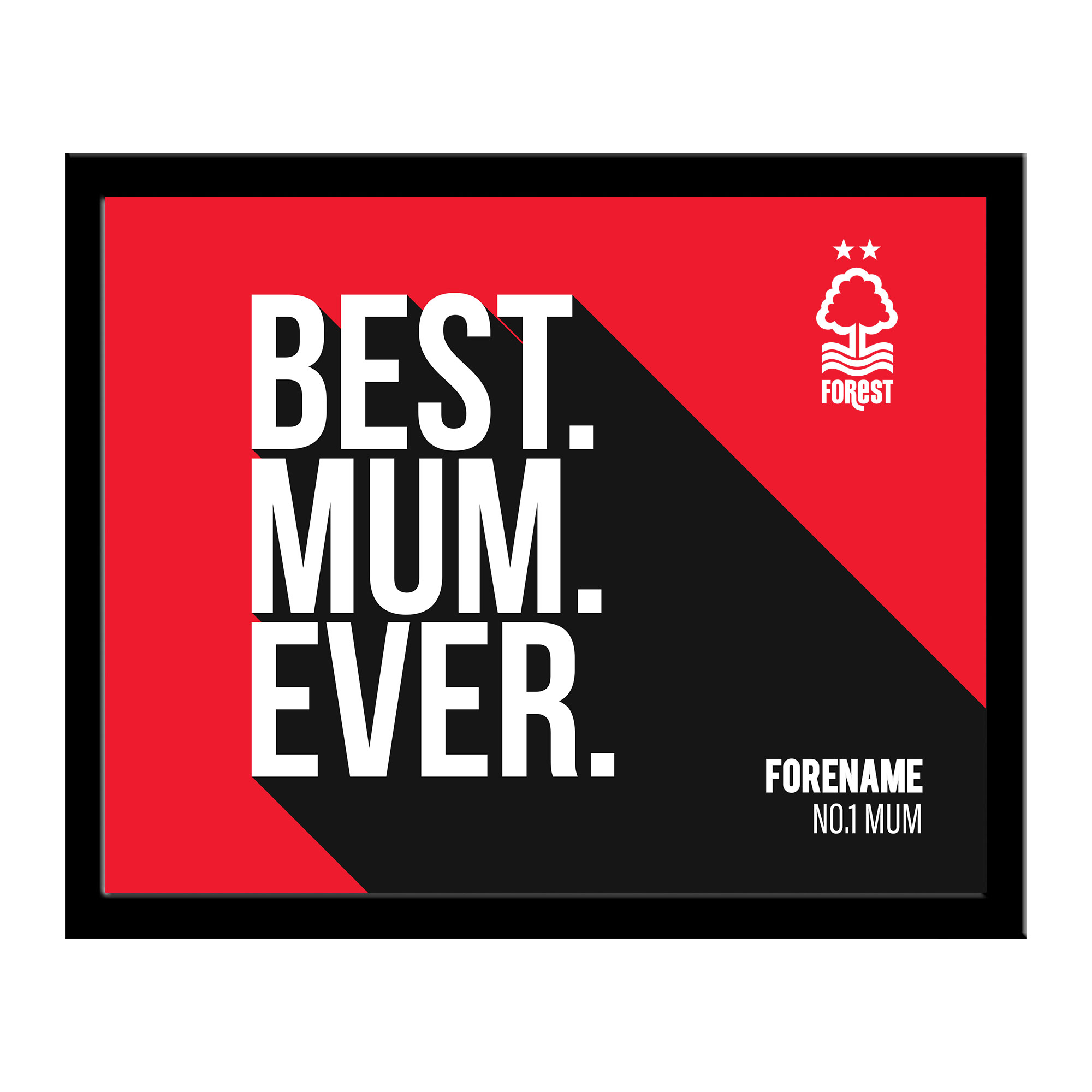 Nottingham Forest Best Mum Ever 10 x 8 Photo Framed