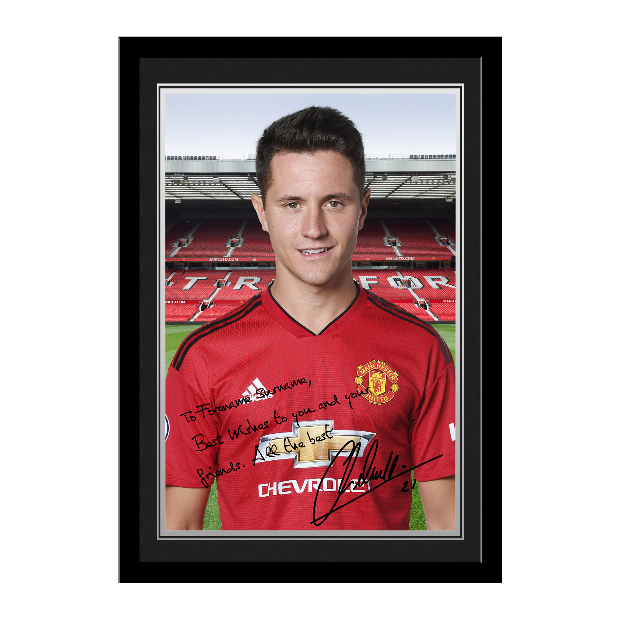 Manchester United FC Herrera Autograph Photo Framed