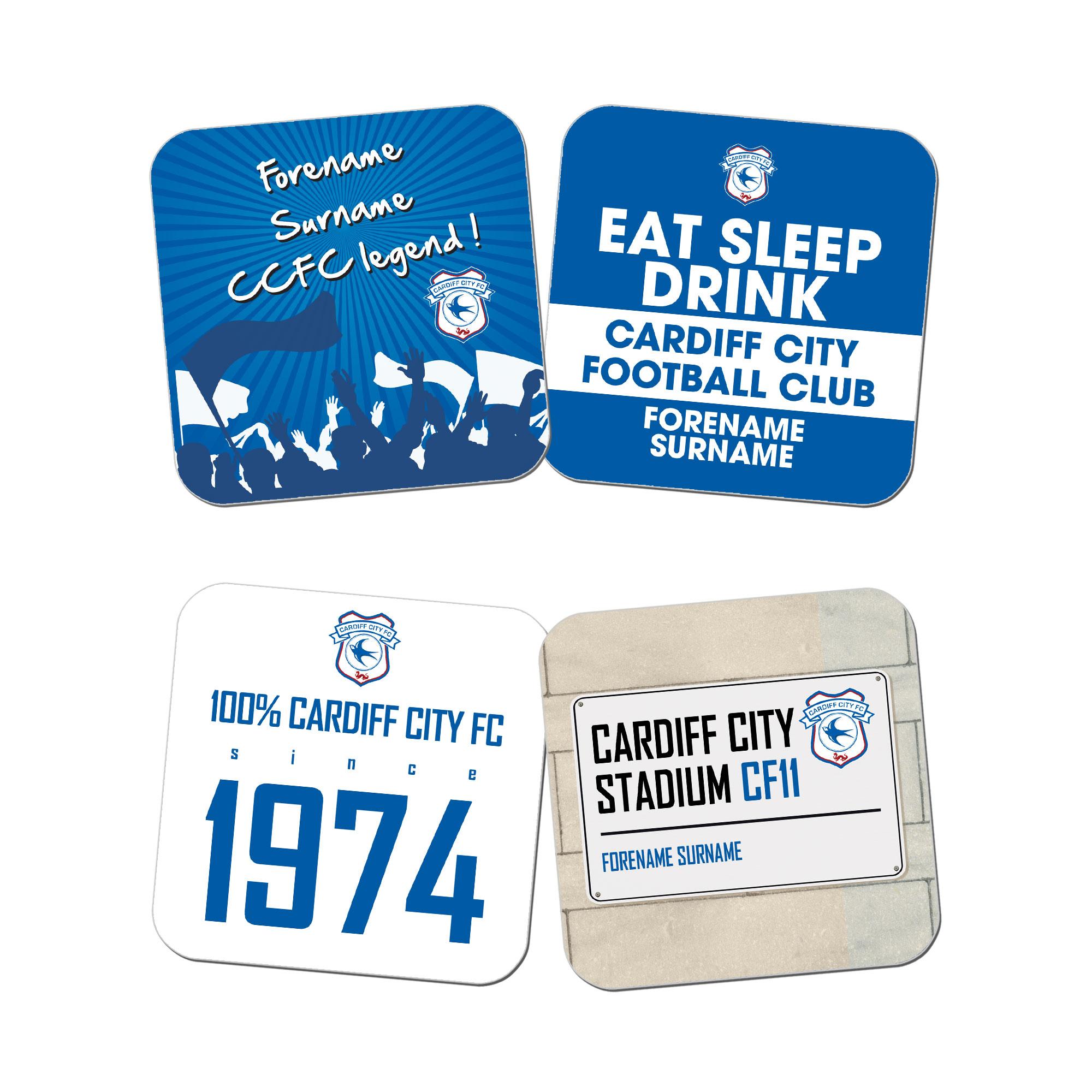 Cardiff City FC Coasters