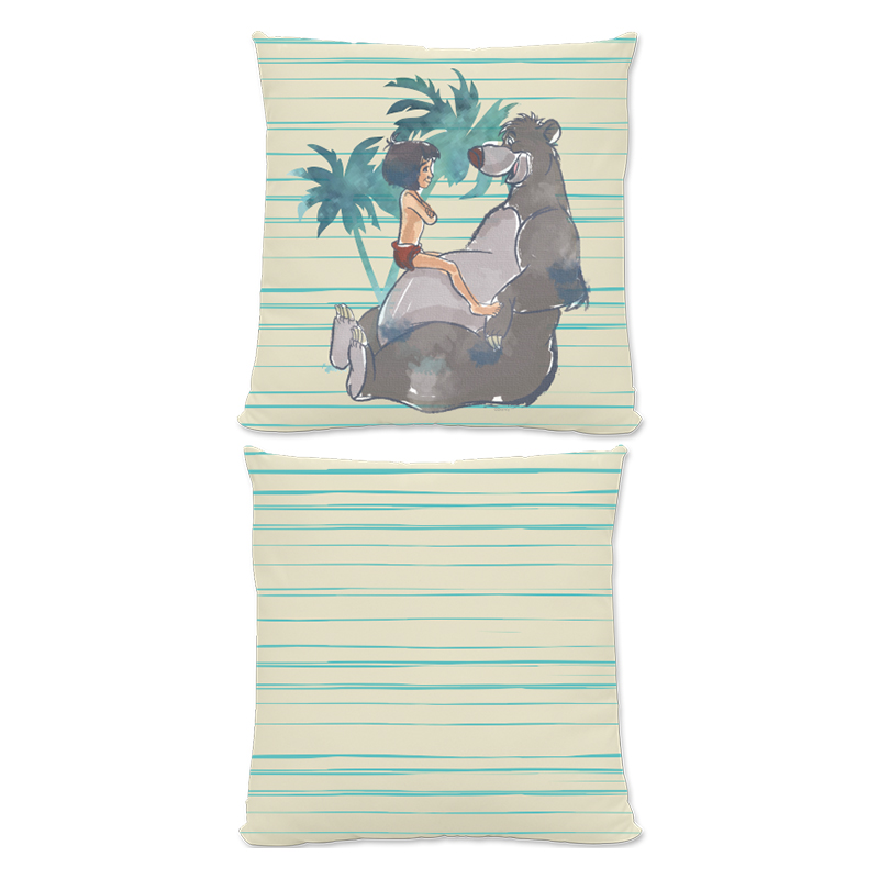 Disney The Jungle Book Baloo And Mowgli Small Fiber Cushion