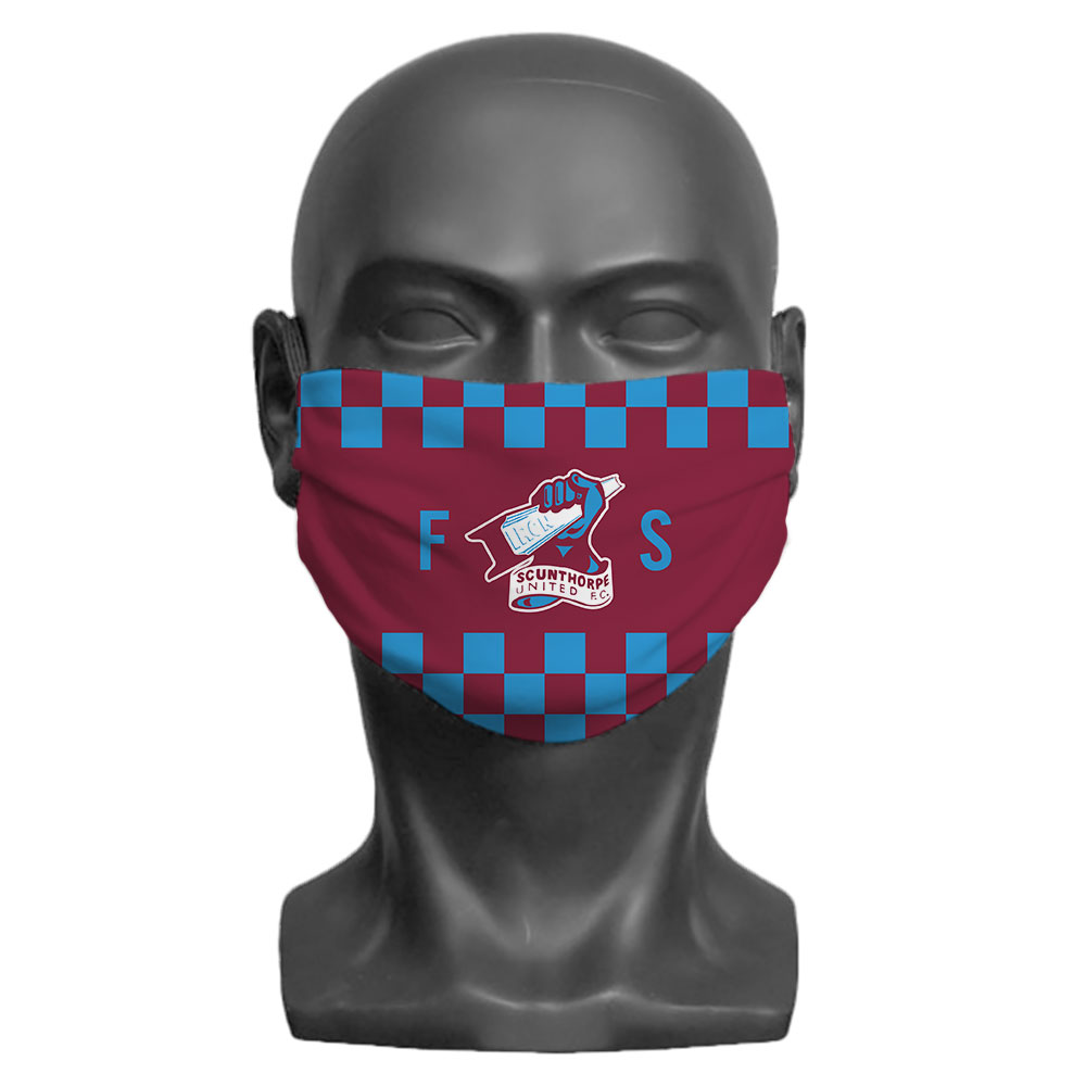 Scunthorpe United FC Initials Adult Face Mask (Medium)