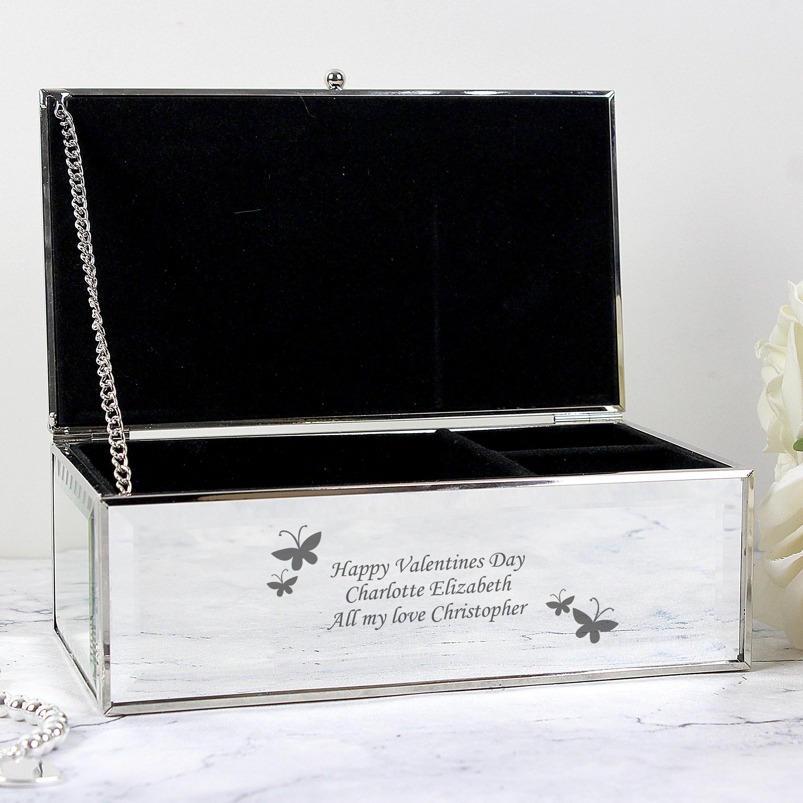 Engraved Butterflies Jewellery Box
