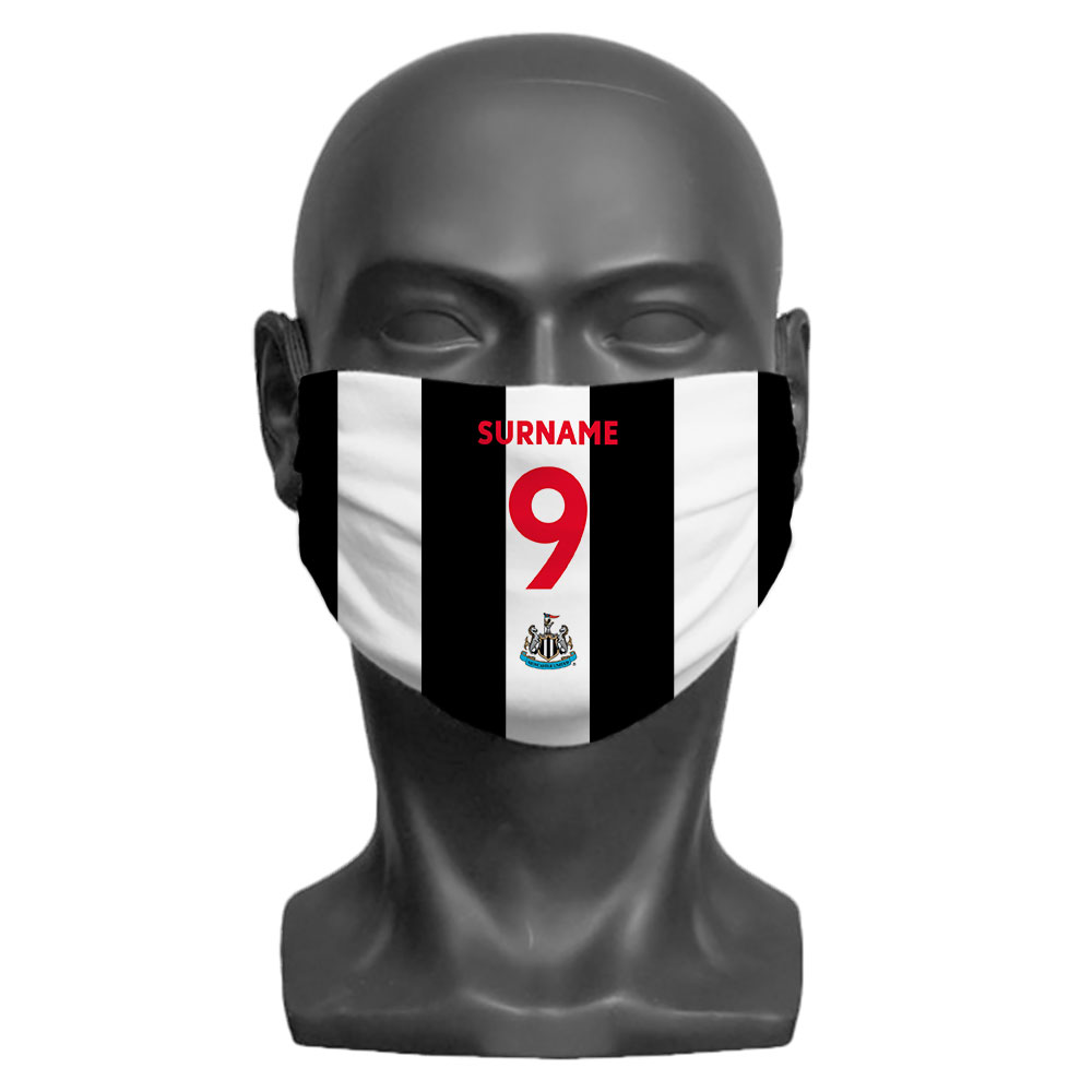 Newcastle United FC Back of Shirt Adult Face Mask (Large)
