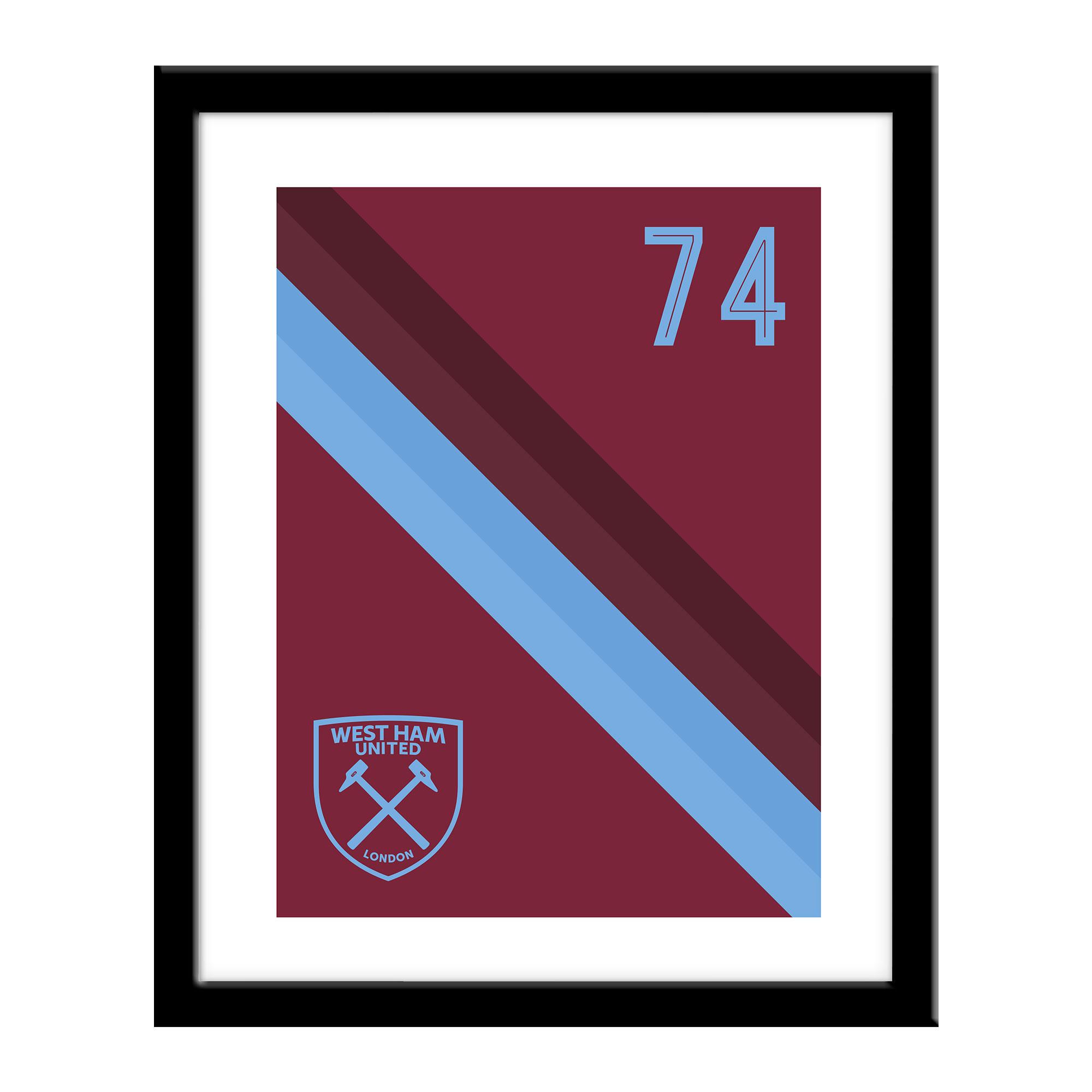 West Ham United FC Stripe Print
