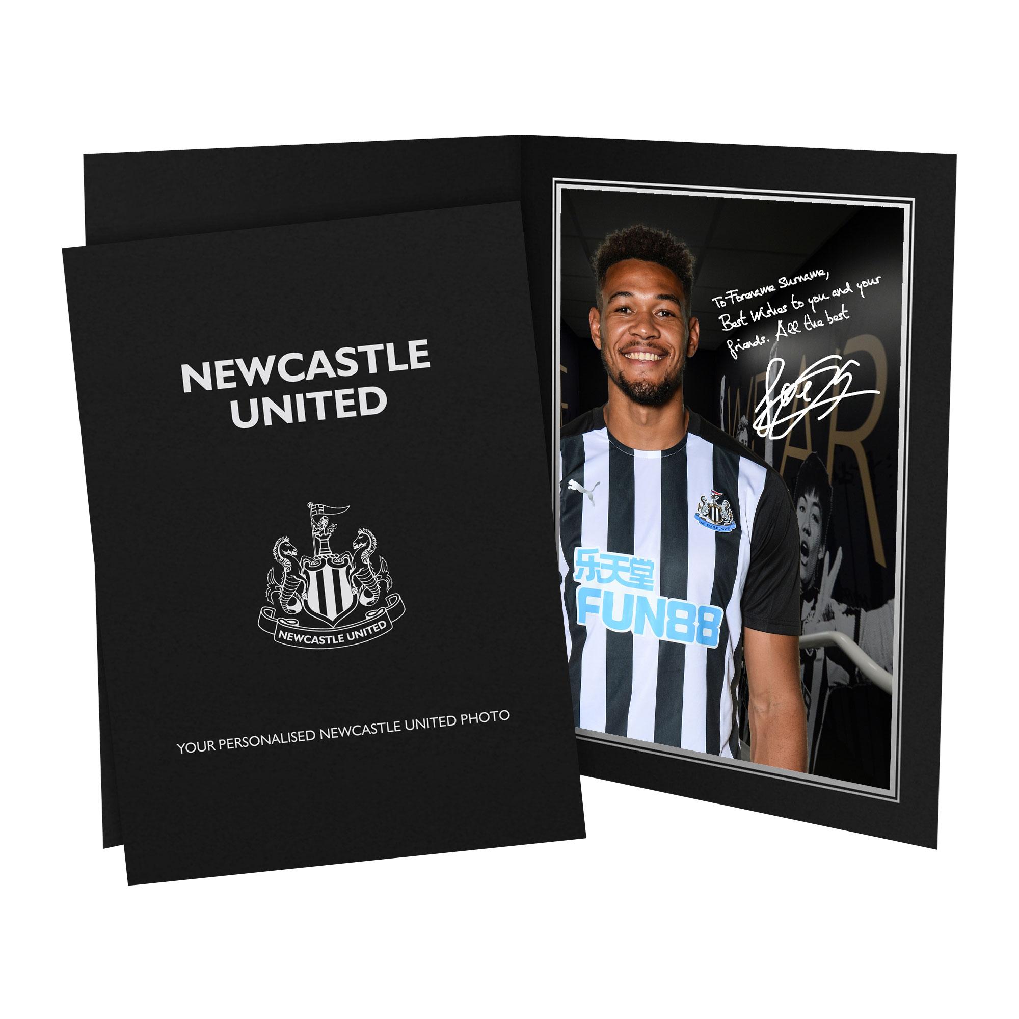 Newcastle United FC Joelinton Autograph Photo Folder