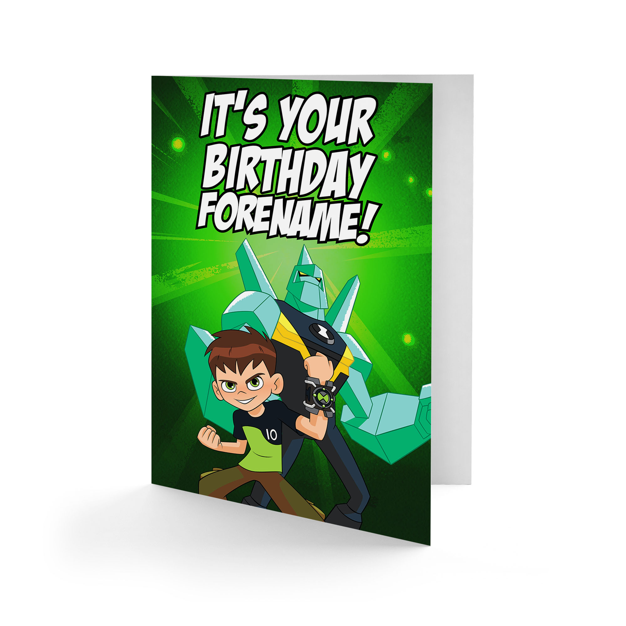 Ben 10 Diamondhead It's Your Birthday Card