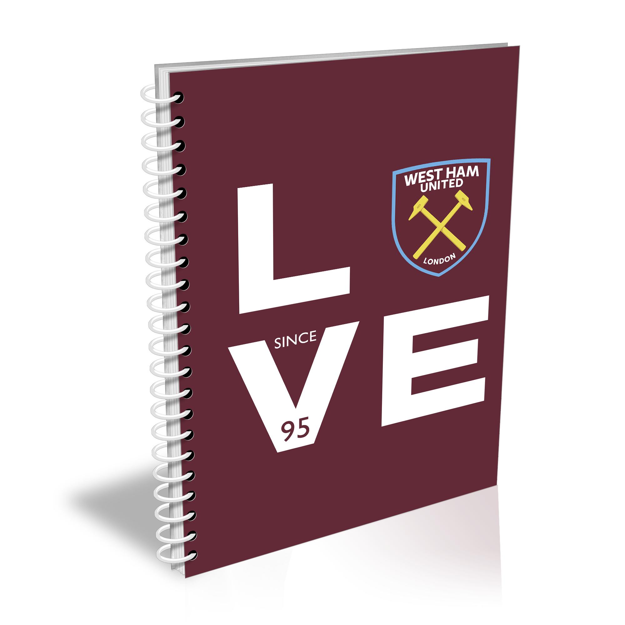 West Ham United FC Love Notebook