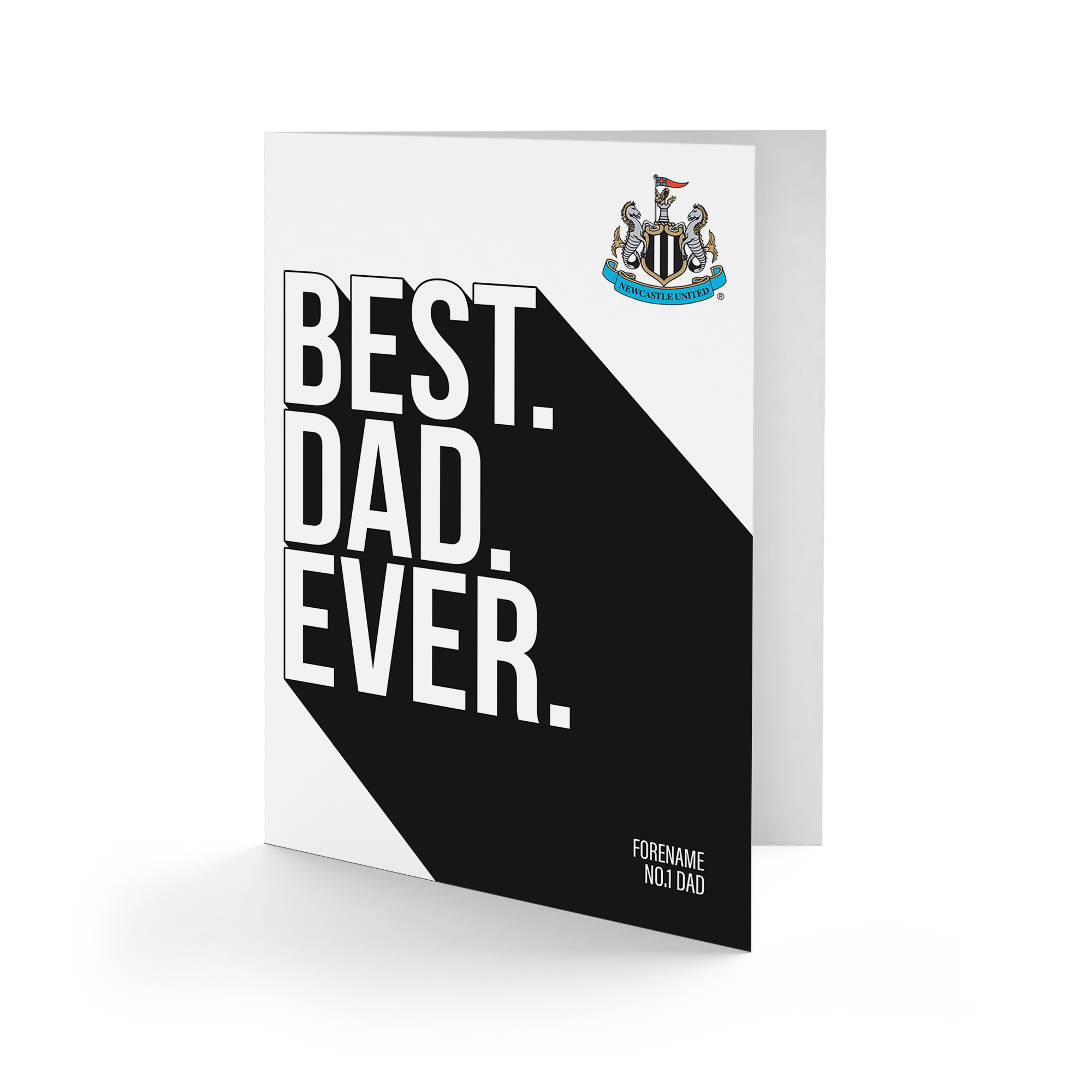 Newcaslte United FC Best Dad Ever Card