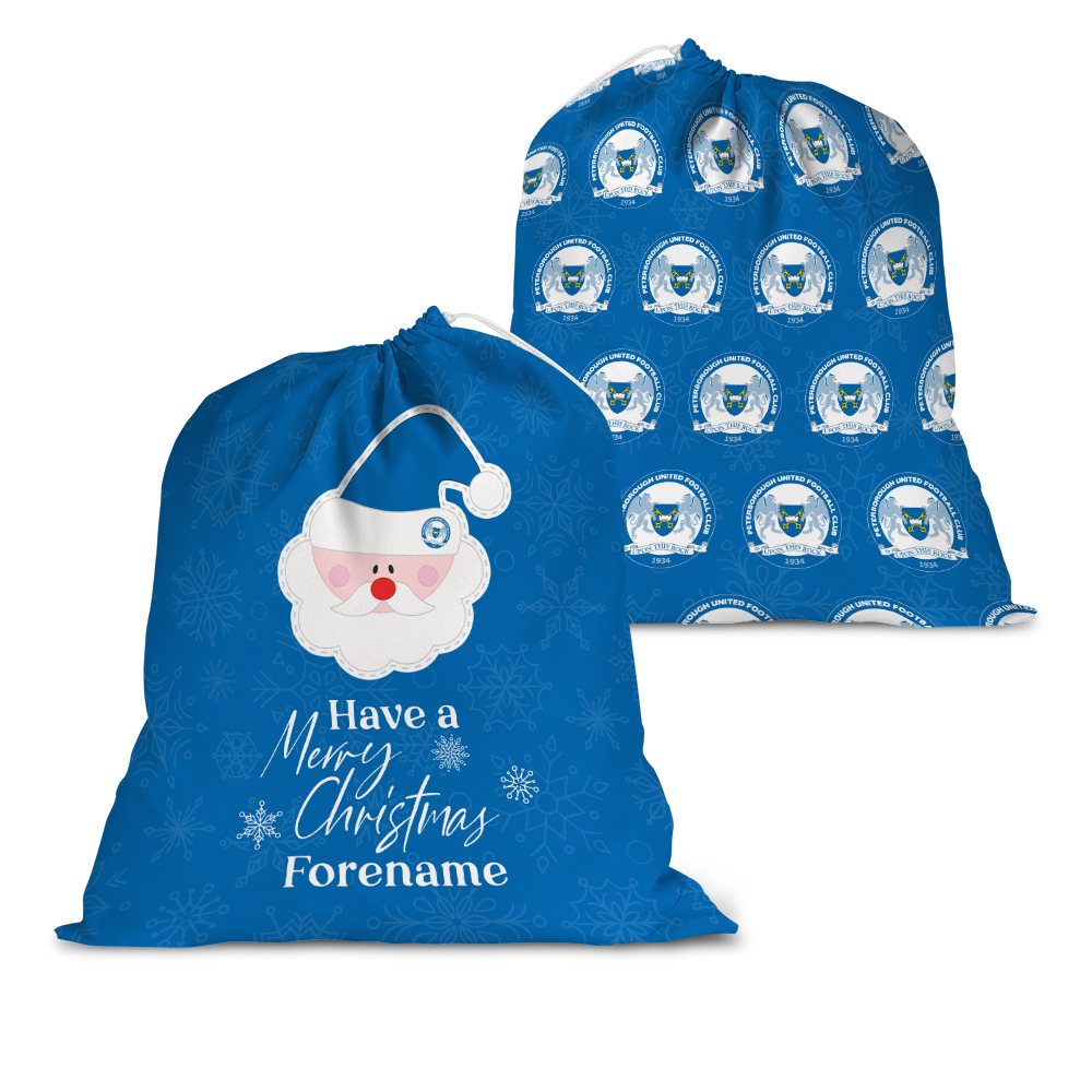 Peterborough United FC Merry Christmas Santa Sack