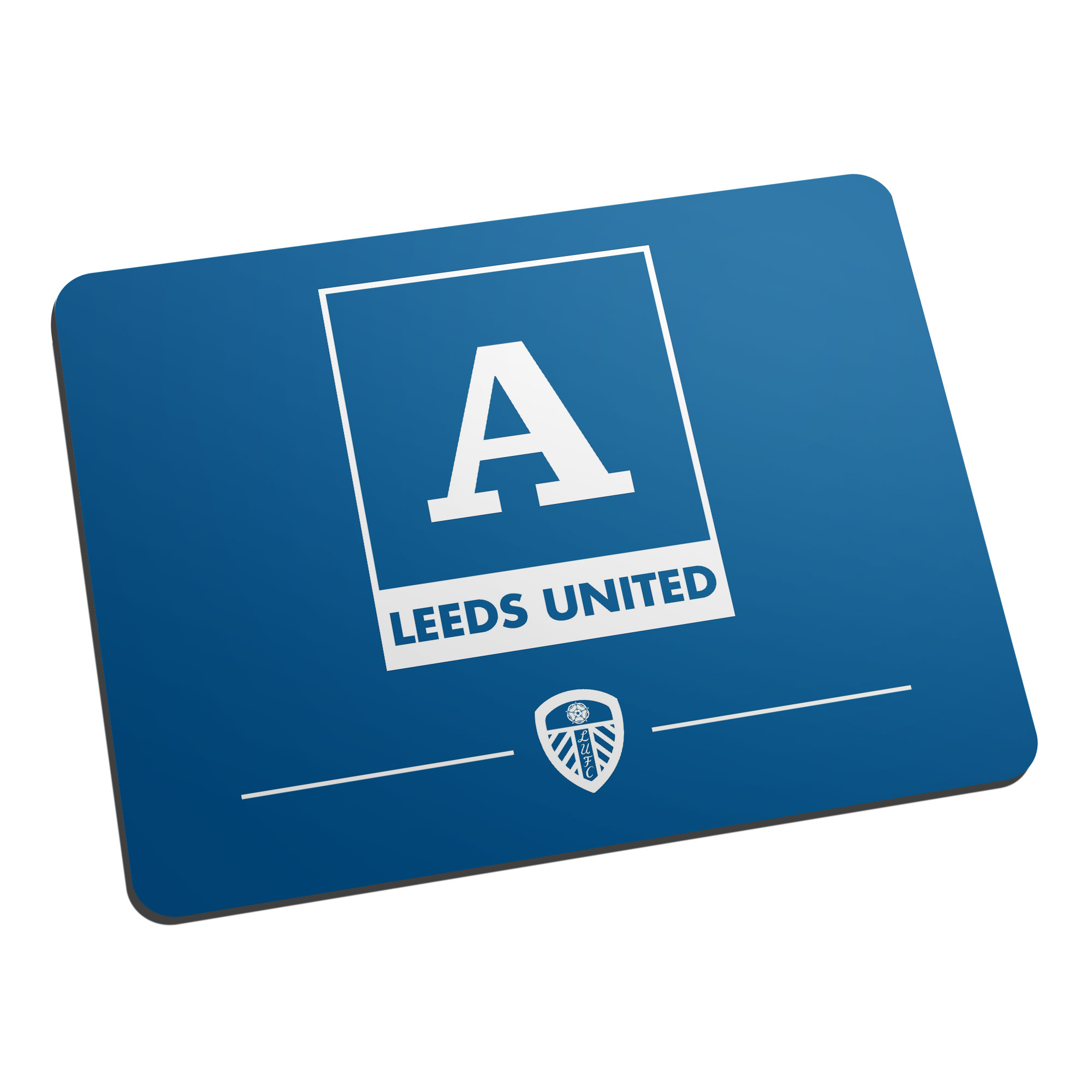 Leeds United FC Monogram Mouse Mat
