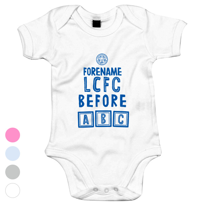 Leicester City FC Before ABC Baby Bodysuit