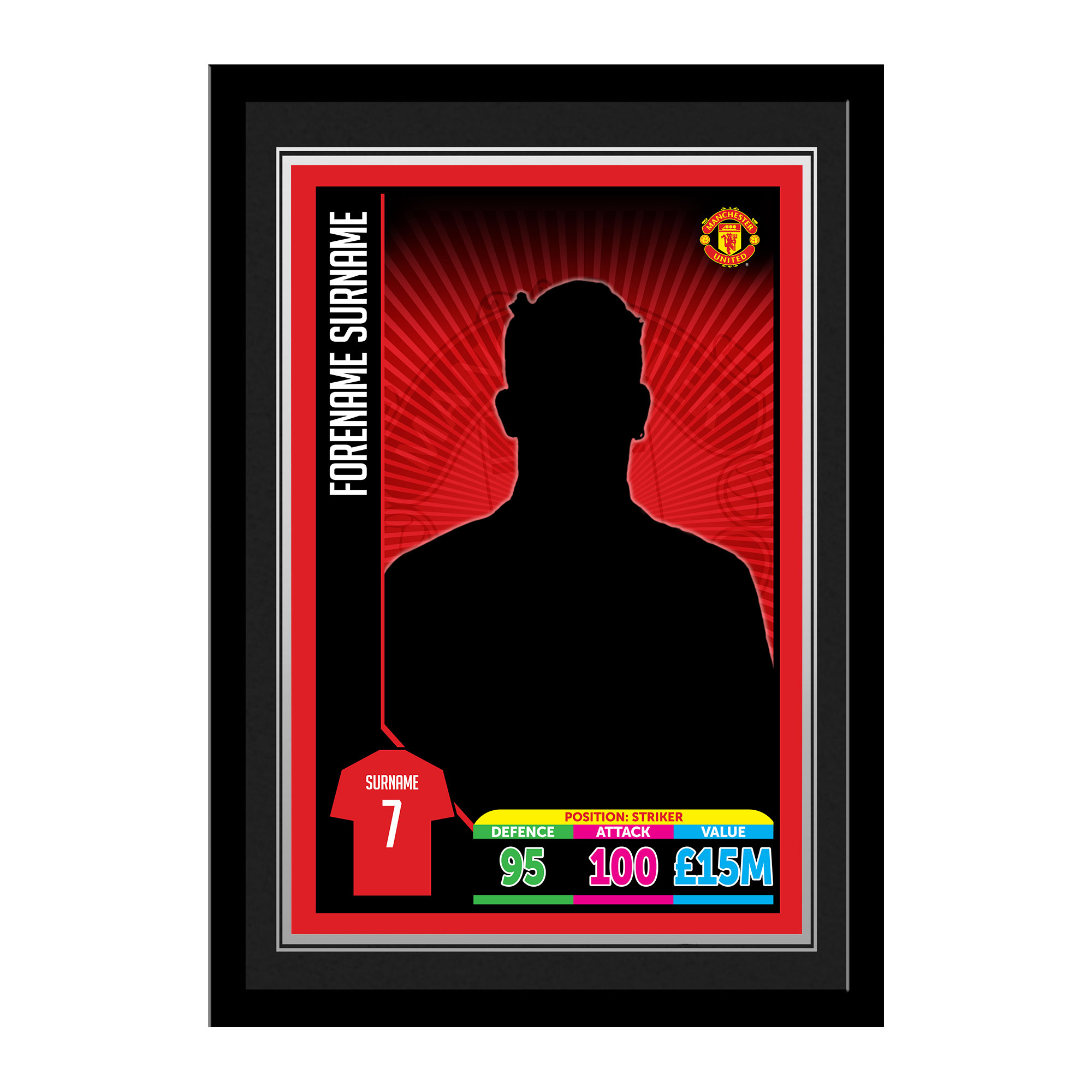Manchester United FC Trading Card Print Framed