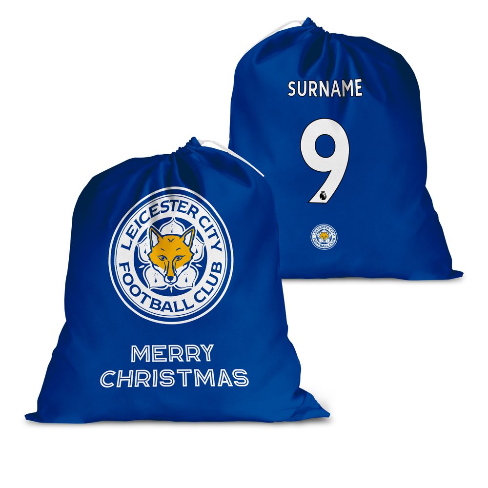 Leicester City FC Back of Shirt Santa Sack