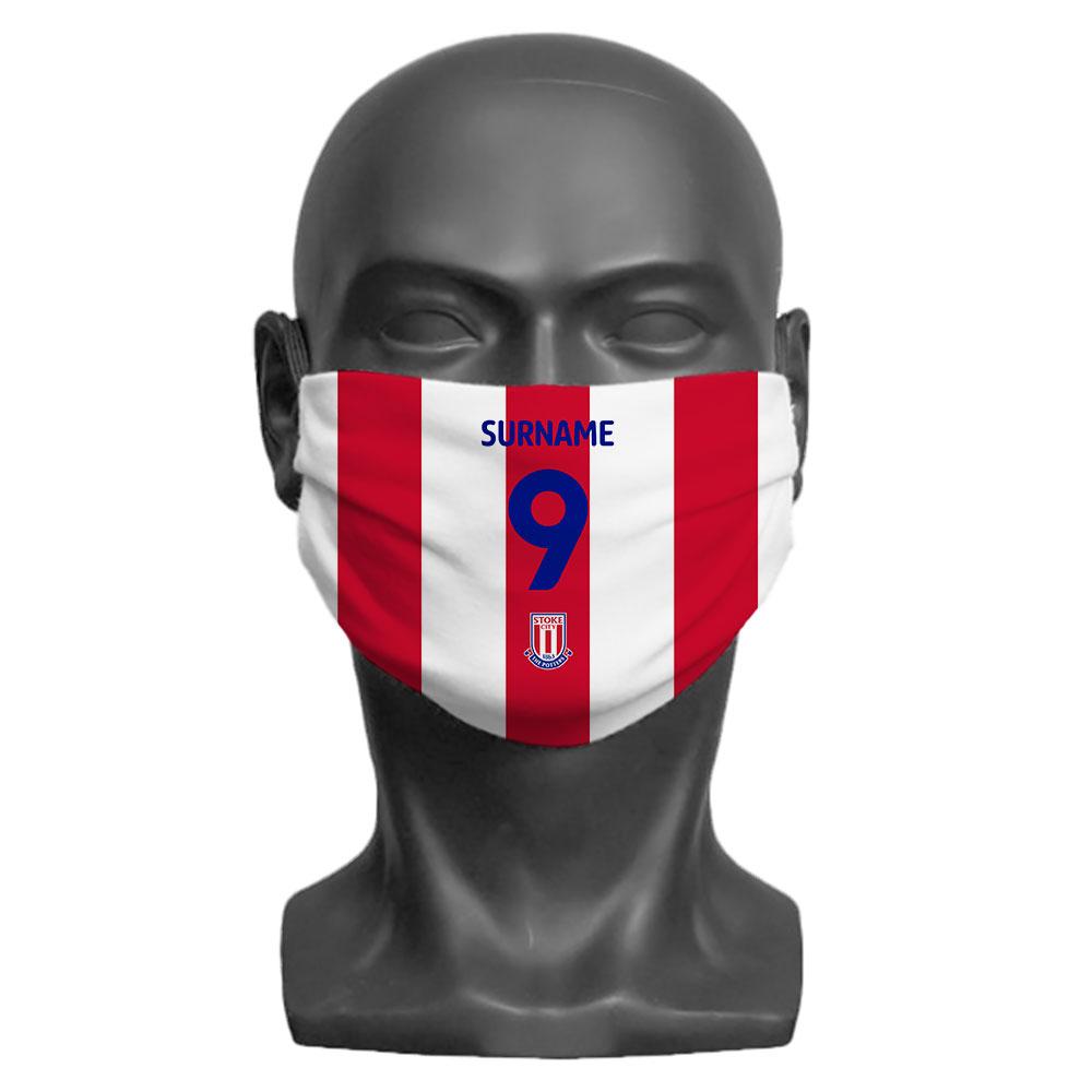 Stoke City FC Back of Shirt Adult Face Mask (Large)