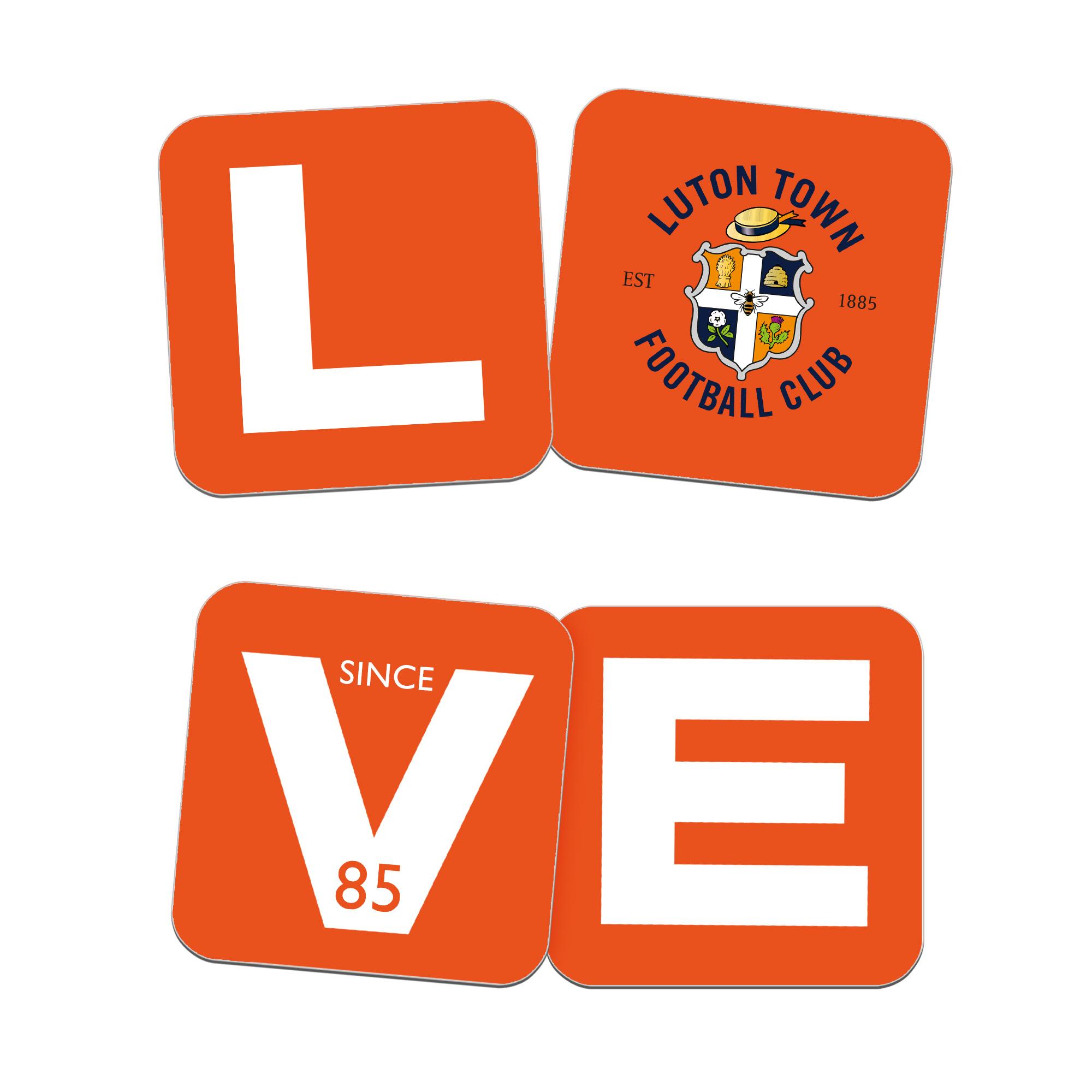 Luton Town FC Love Coasters (x4)