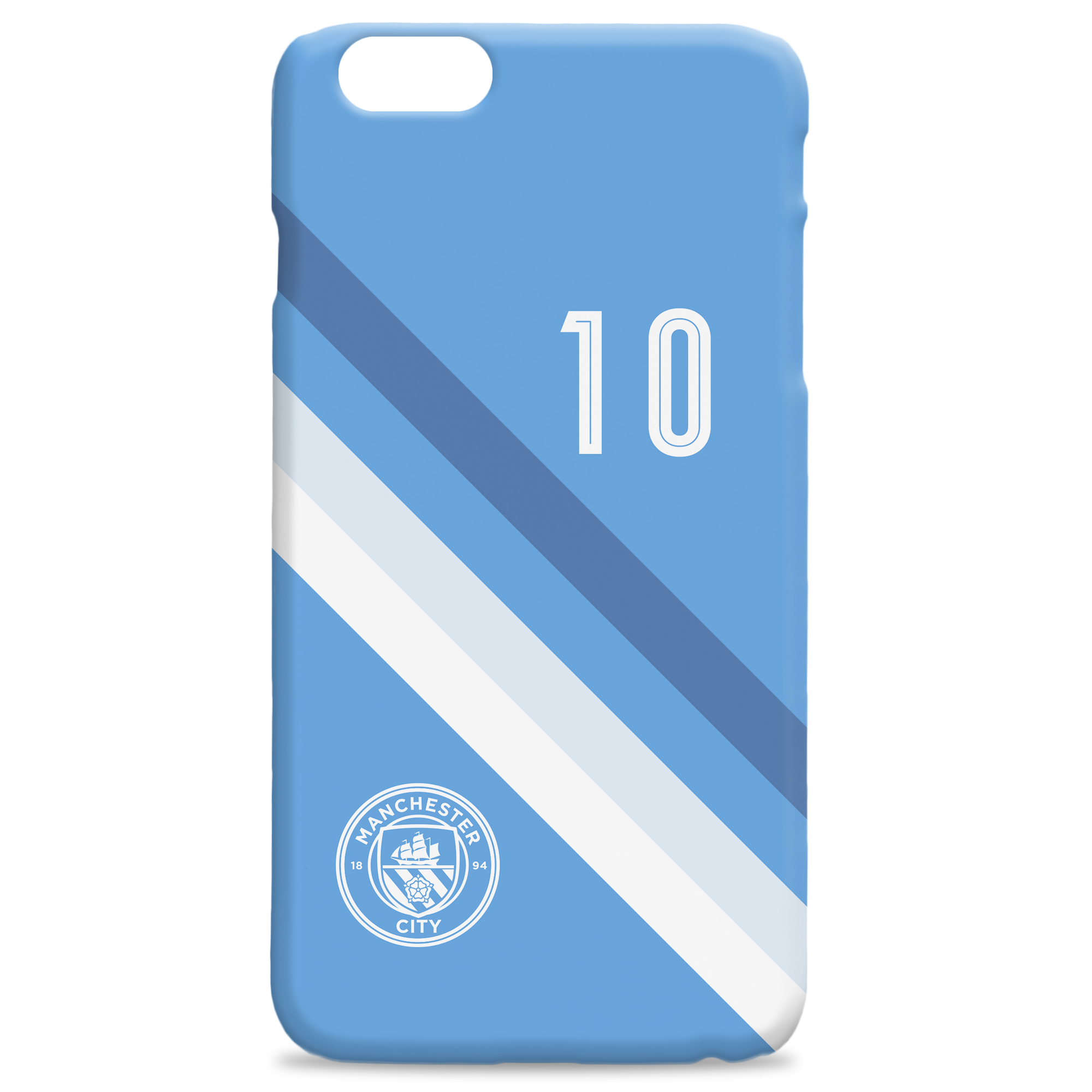 Manchester City FC Stripe Hard Back Phone Case