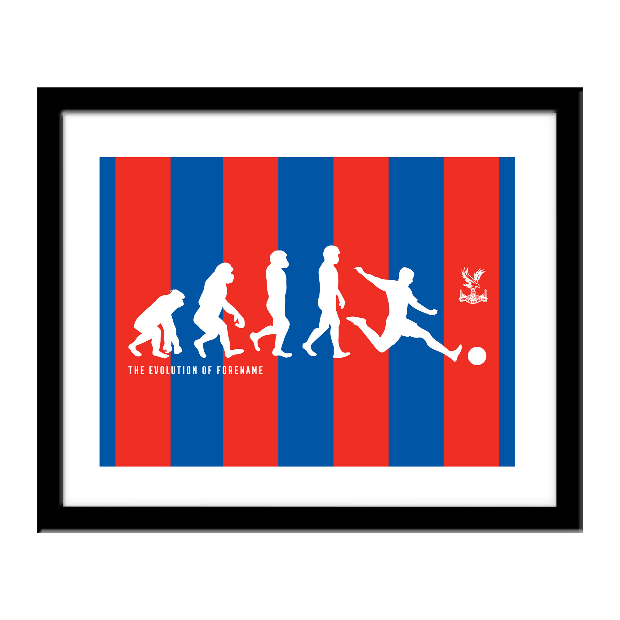 Crystal Palace FC Evolution Print