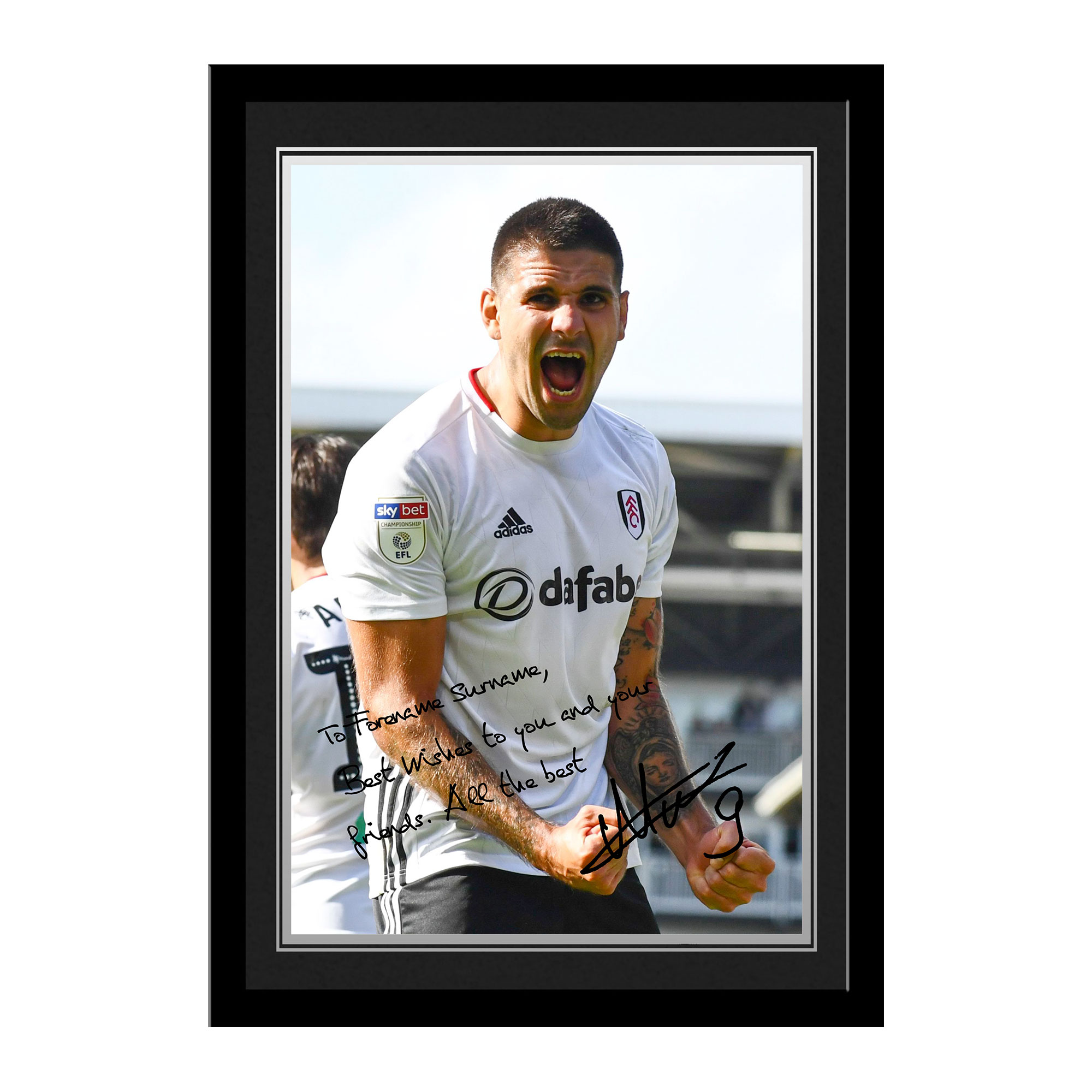 Fulham FC Mitrovic Autograph Photo Framed