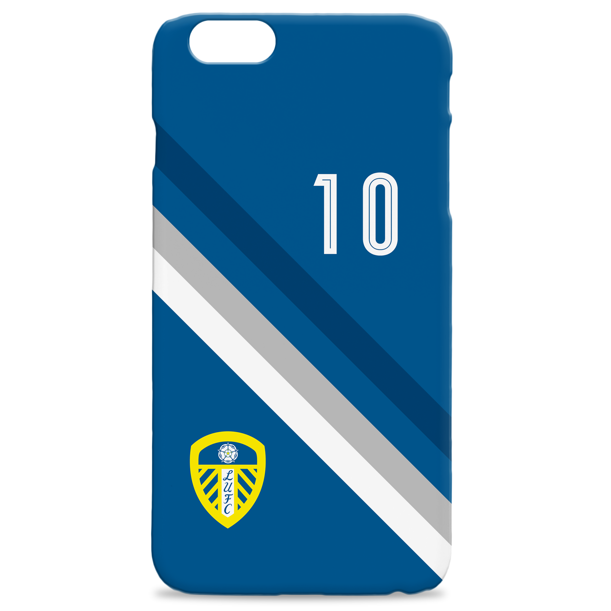 Leeds United Stripe Hard Back Phone Case
