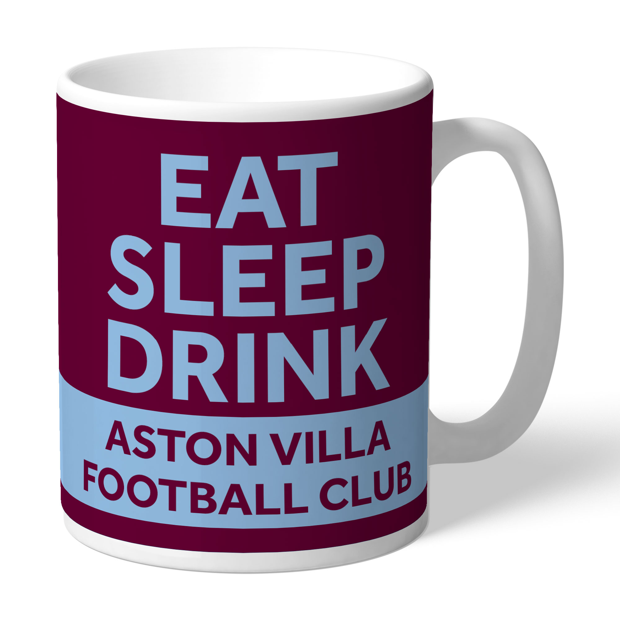 Aston Villa FC Eat Sleep Drink Mug