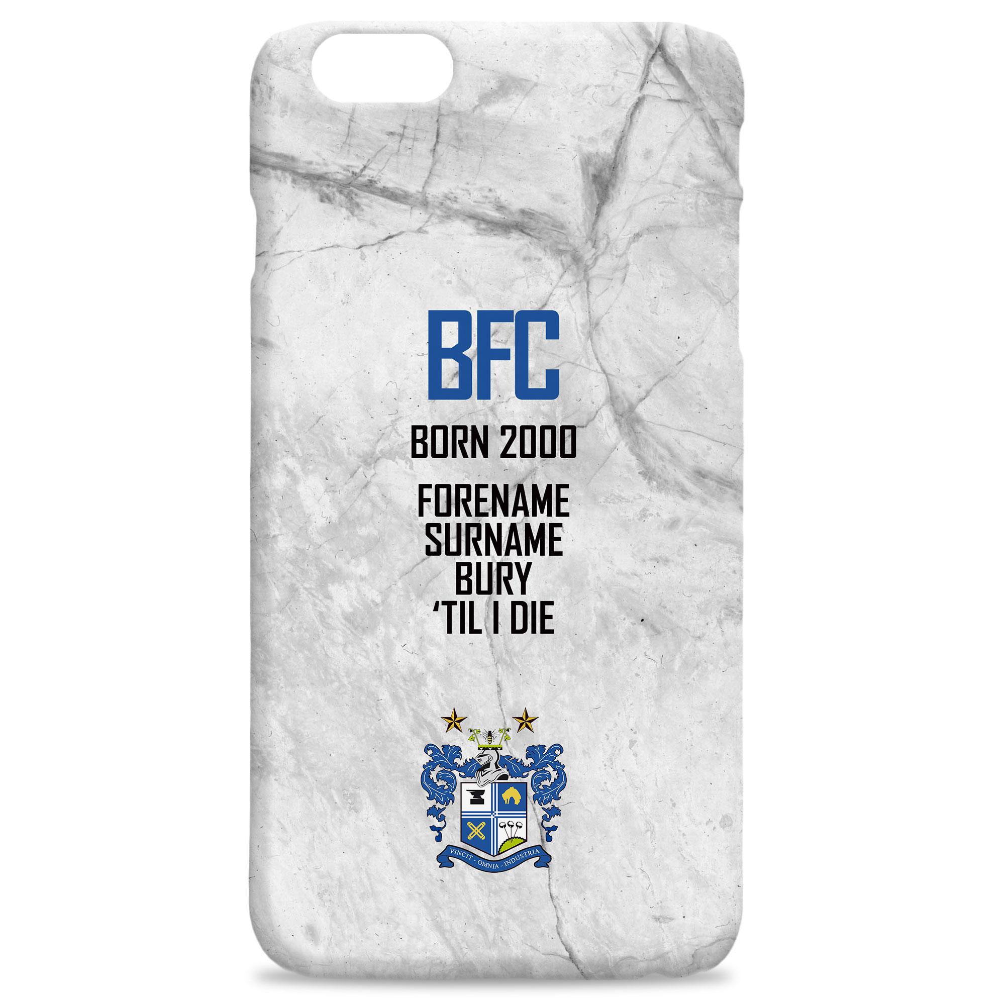 Bury FC 'Til I Die Hard Back Phone Case