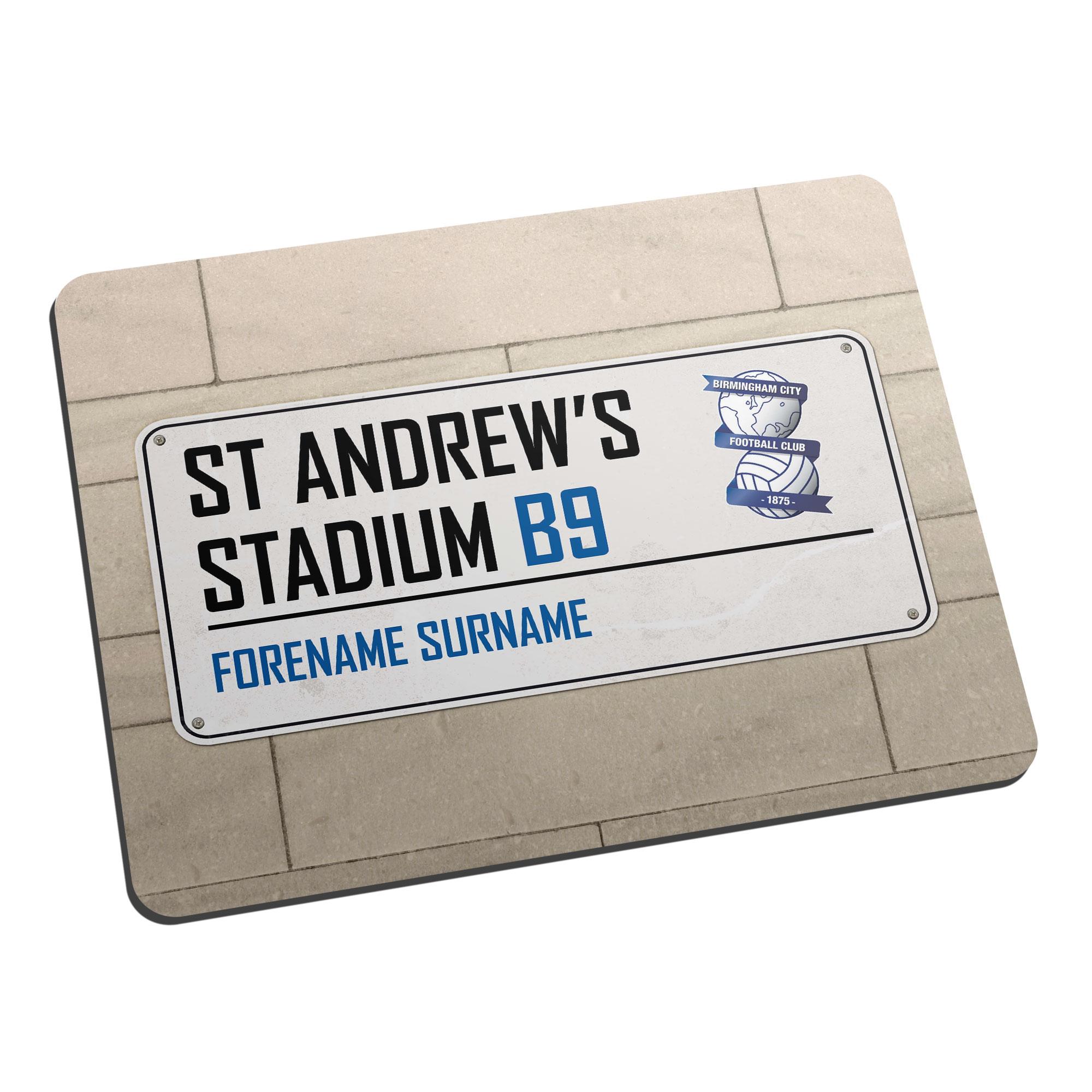Birmingham City FC Street Sign Mouse Mat