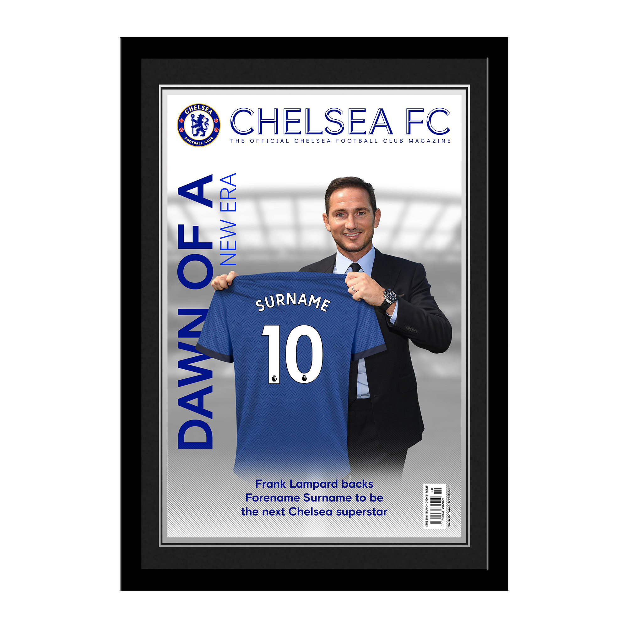 Chelsea FC Magazine Front Cover Photo Framed