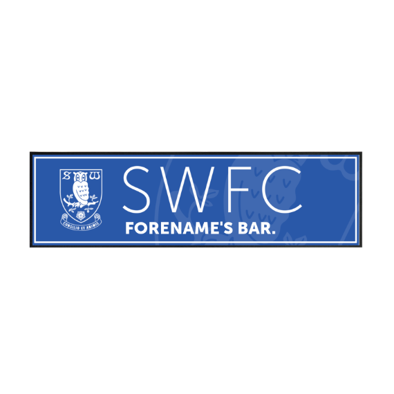 Sheffield Wednesday FC Mono Crest Large Bar Runner