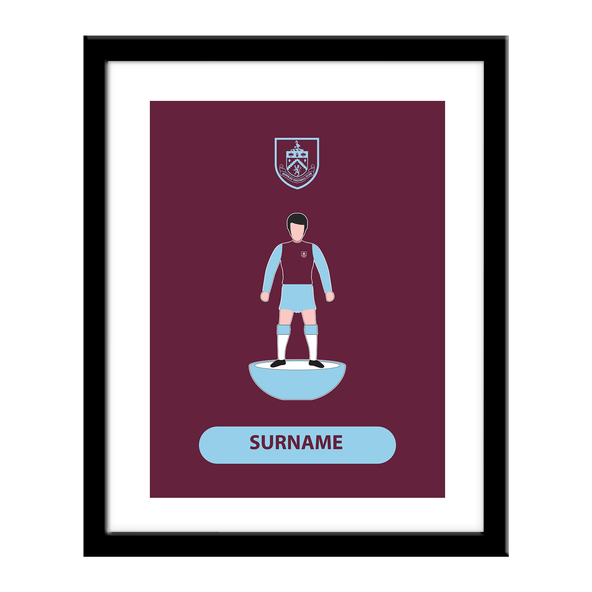 Burnley FC Player Figure Print