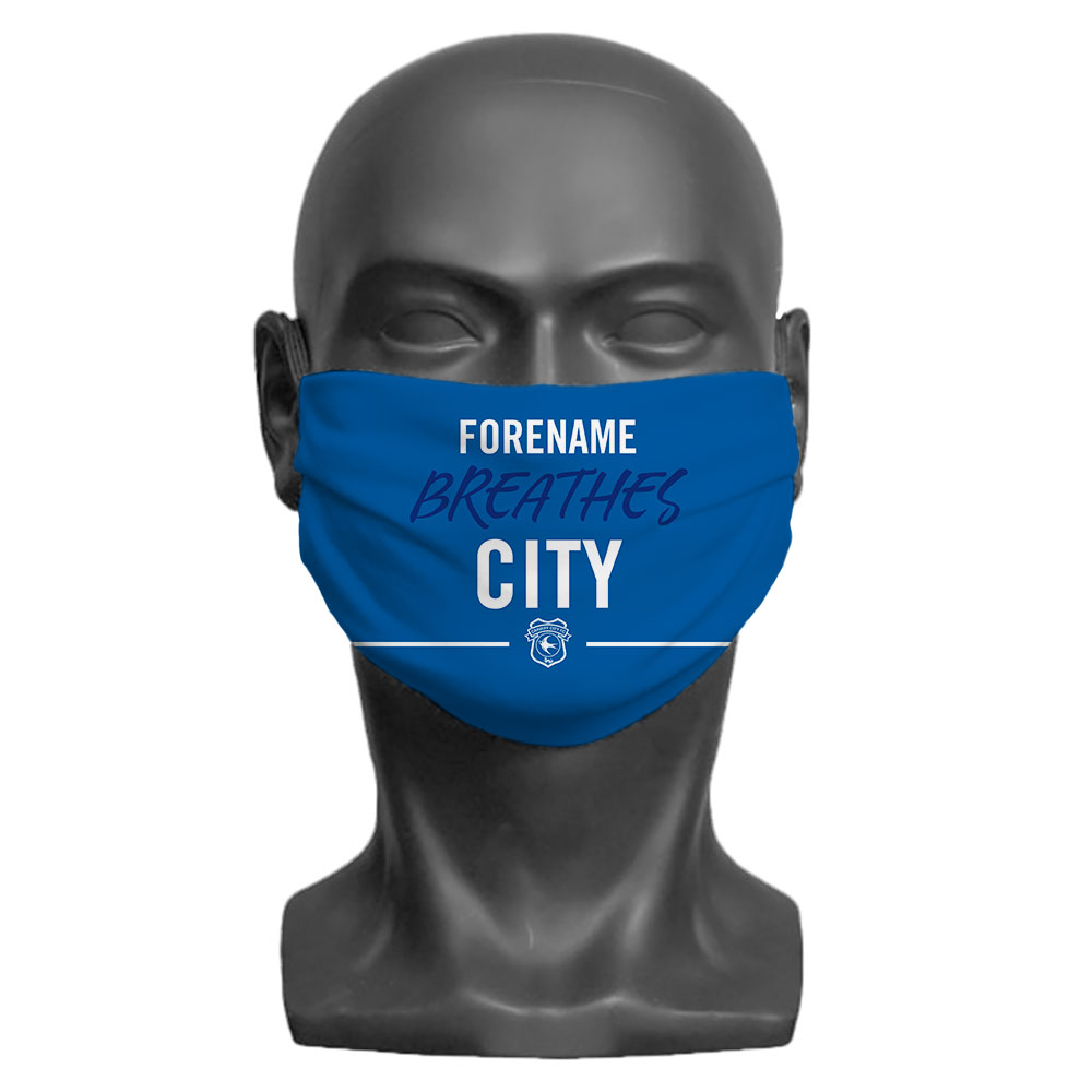 Cardiff City FC Breathes Adult Face Mask (Medium)