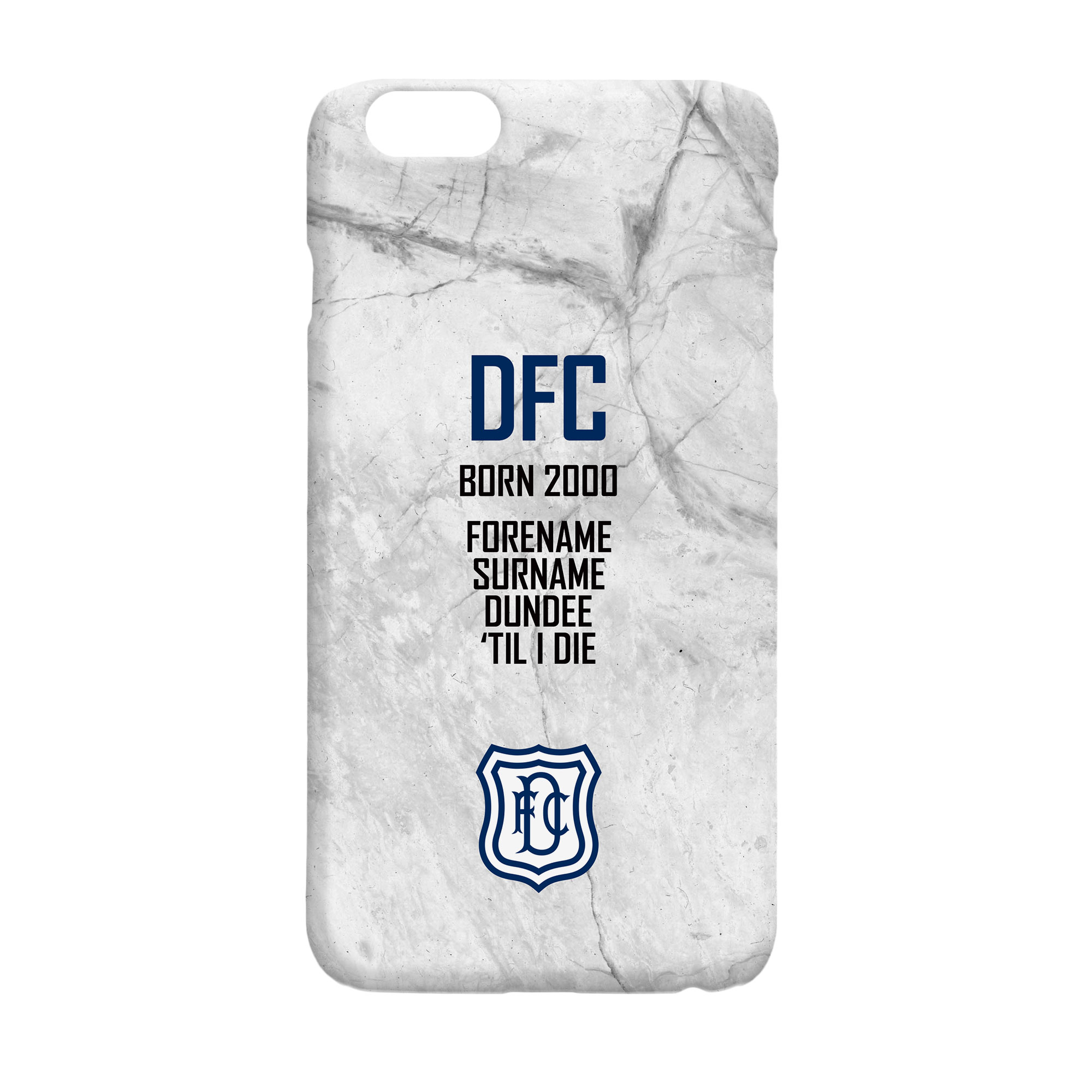 Dundee FC 'Til I Die Hard Back Phone Case