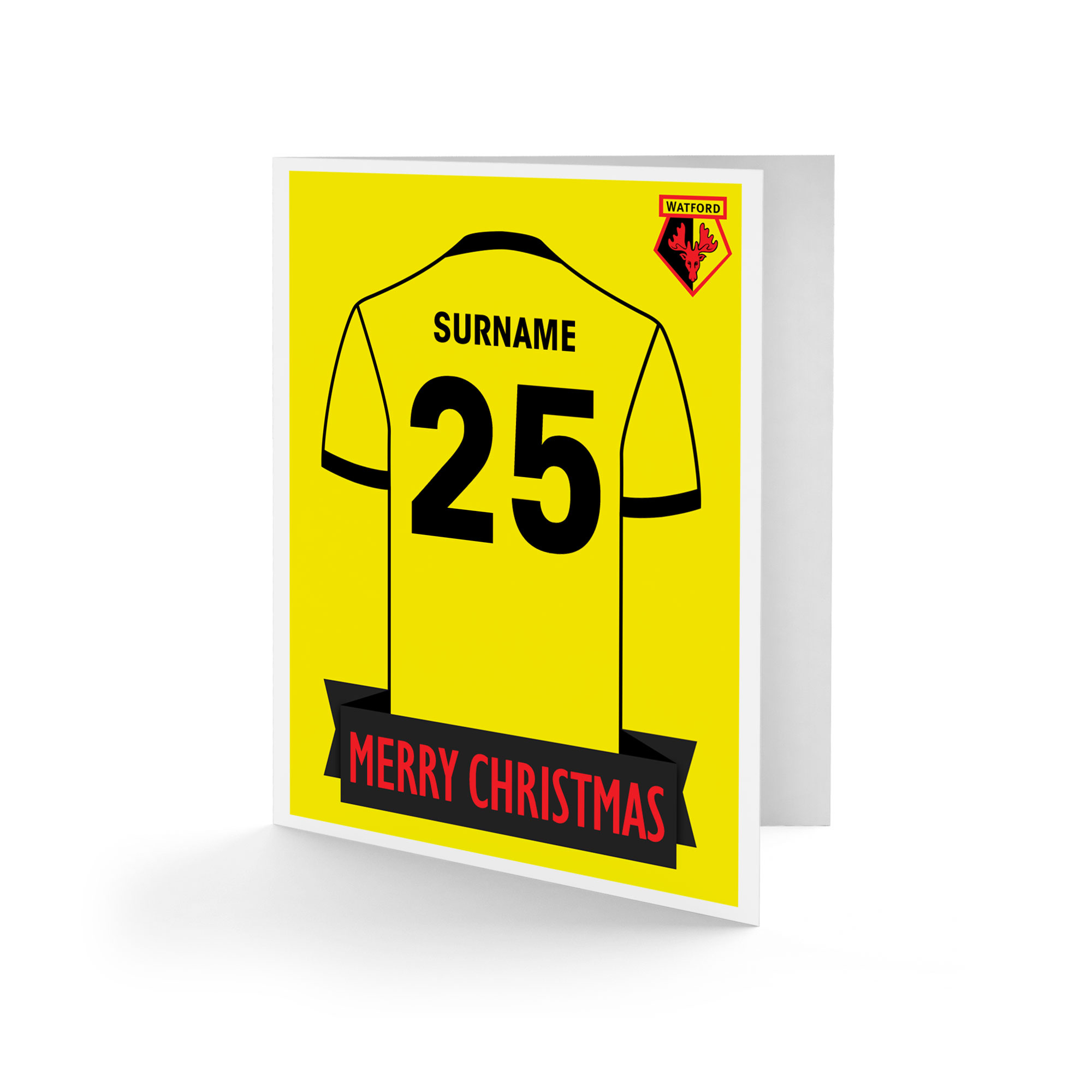 Watford FC Shirt Christmas Card