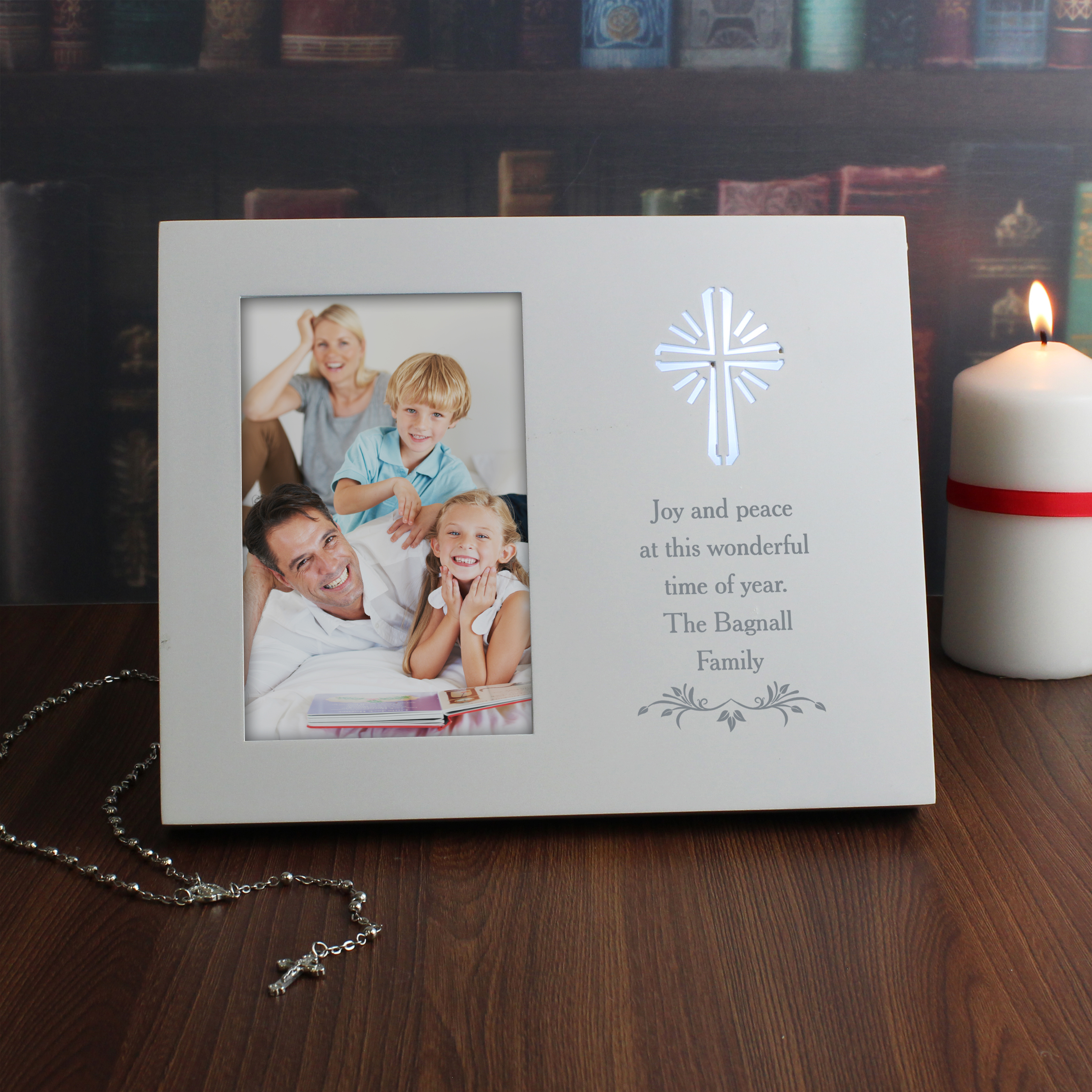 Personalised Cross Sentiments 6x4 Light Up Frame
