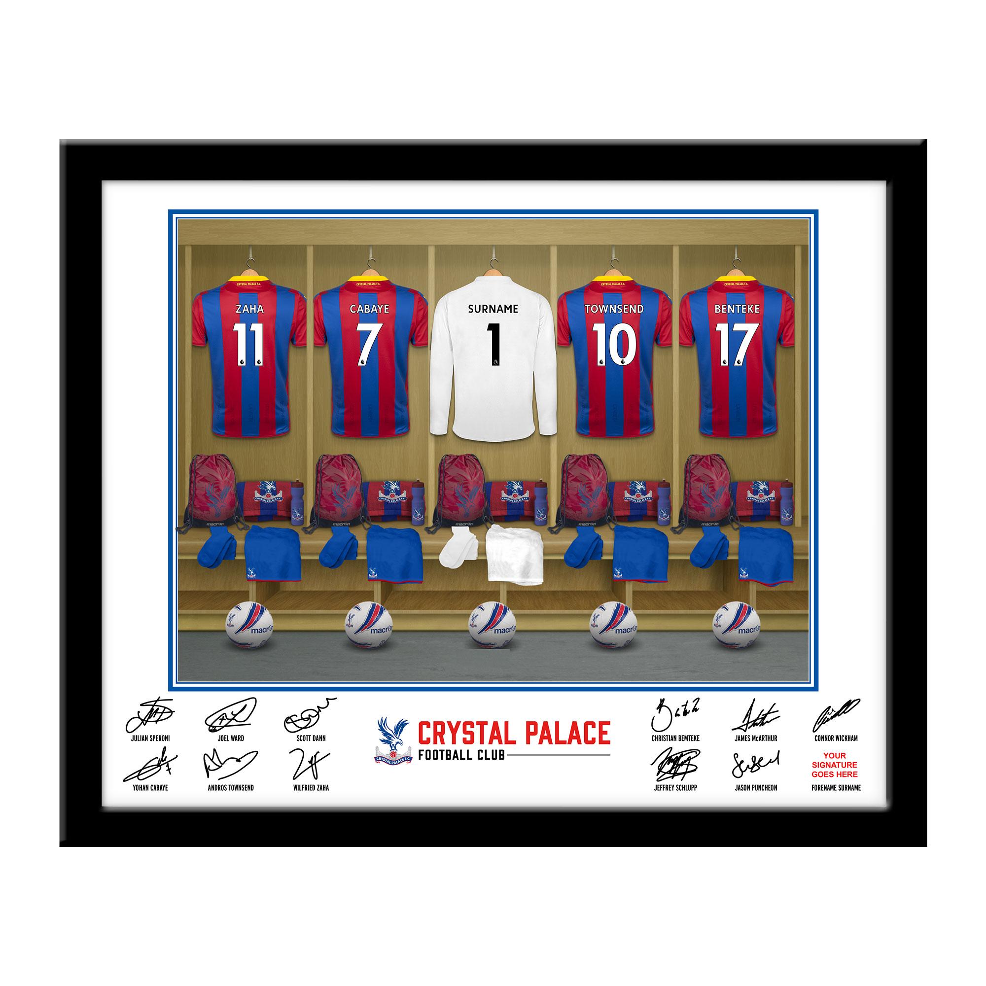 CPFC Goalkeeper Dressing Room Framed Print