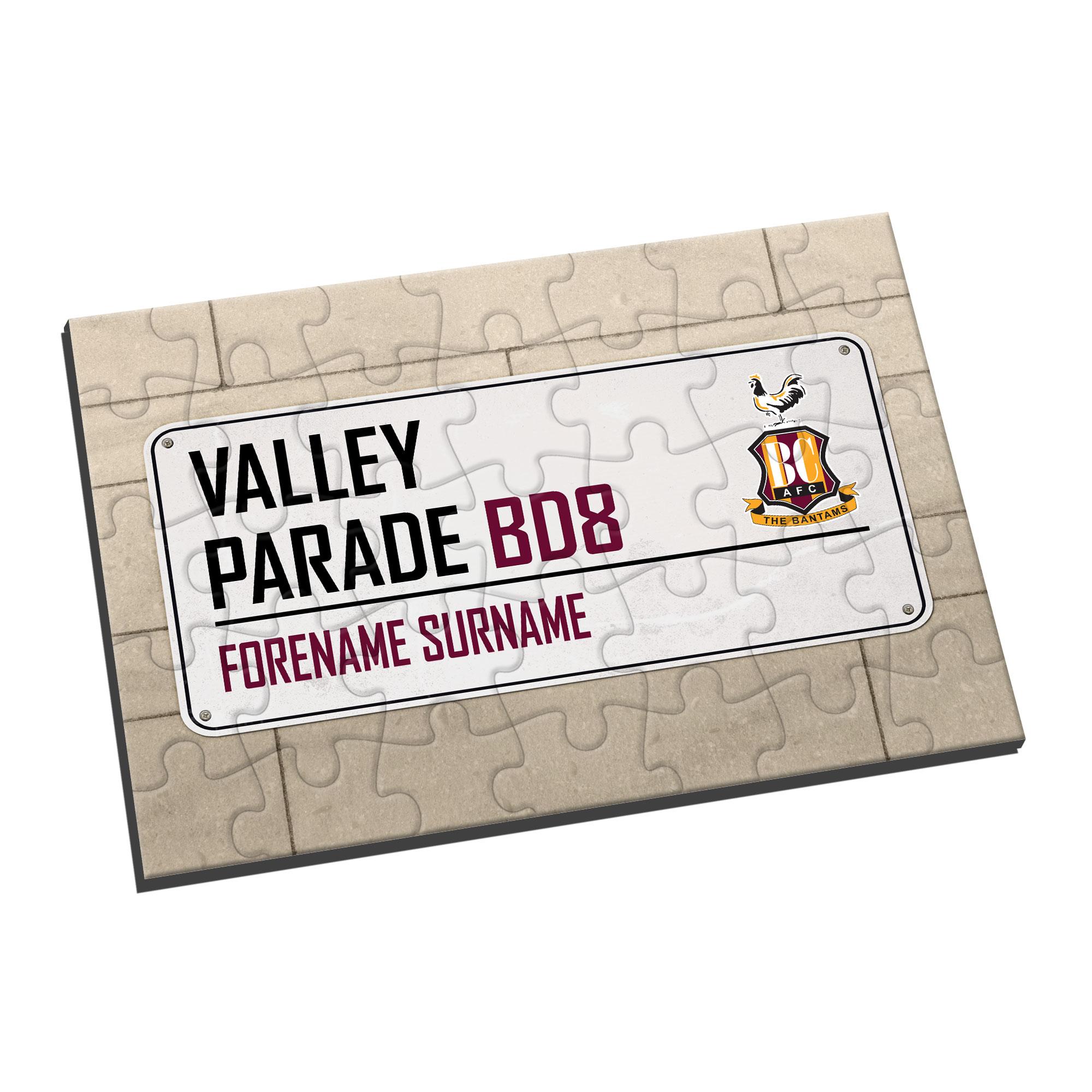 Bradford City AFC Street Sign Jigsaw