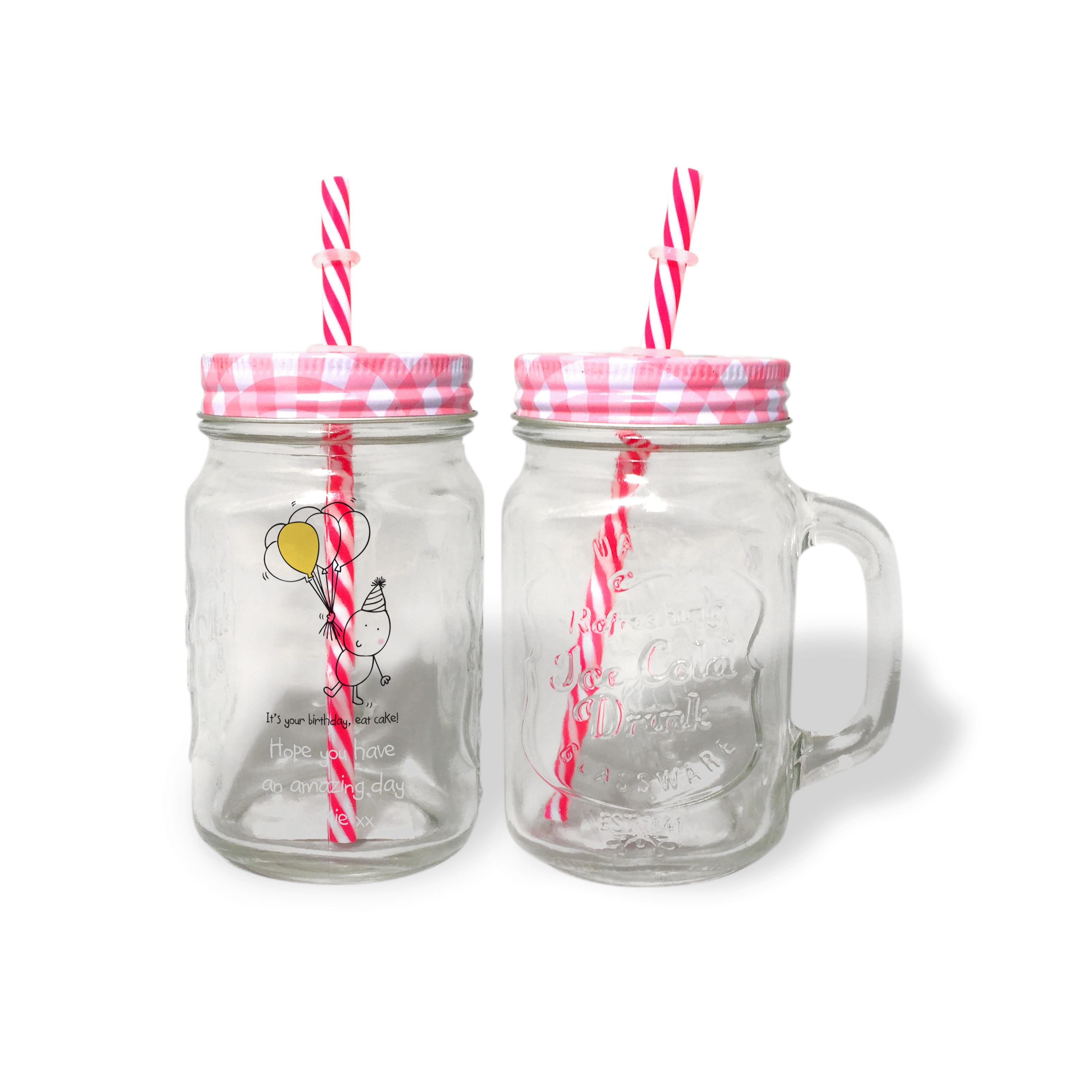 Chilli & Bubbles Birthday Red Lid Mason Jar